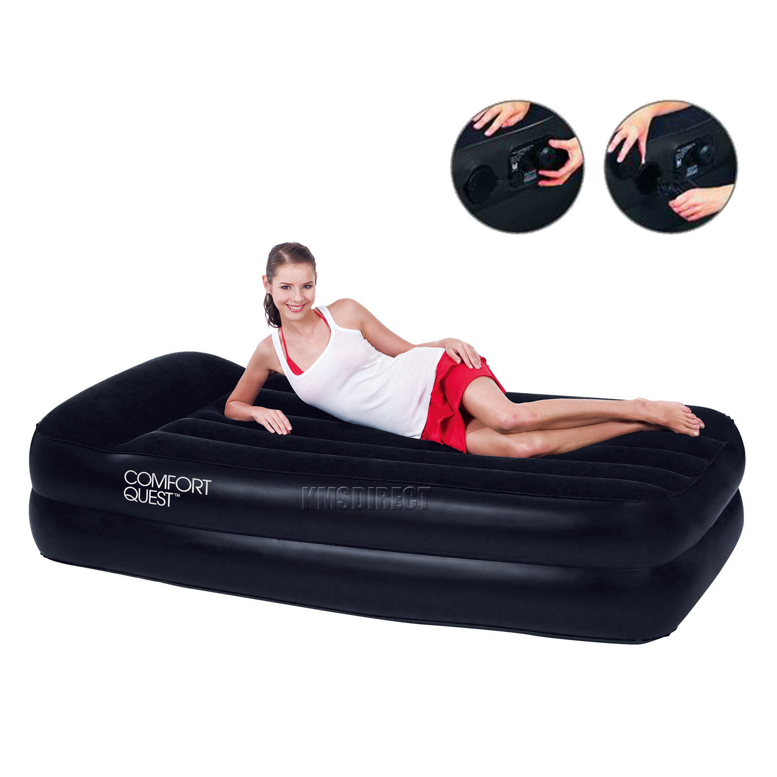 New Bestway Single Flocked Inflatable Comfort Quest Air