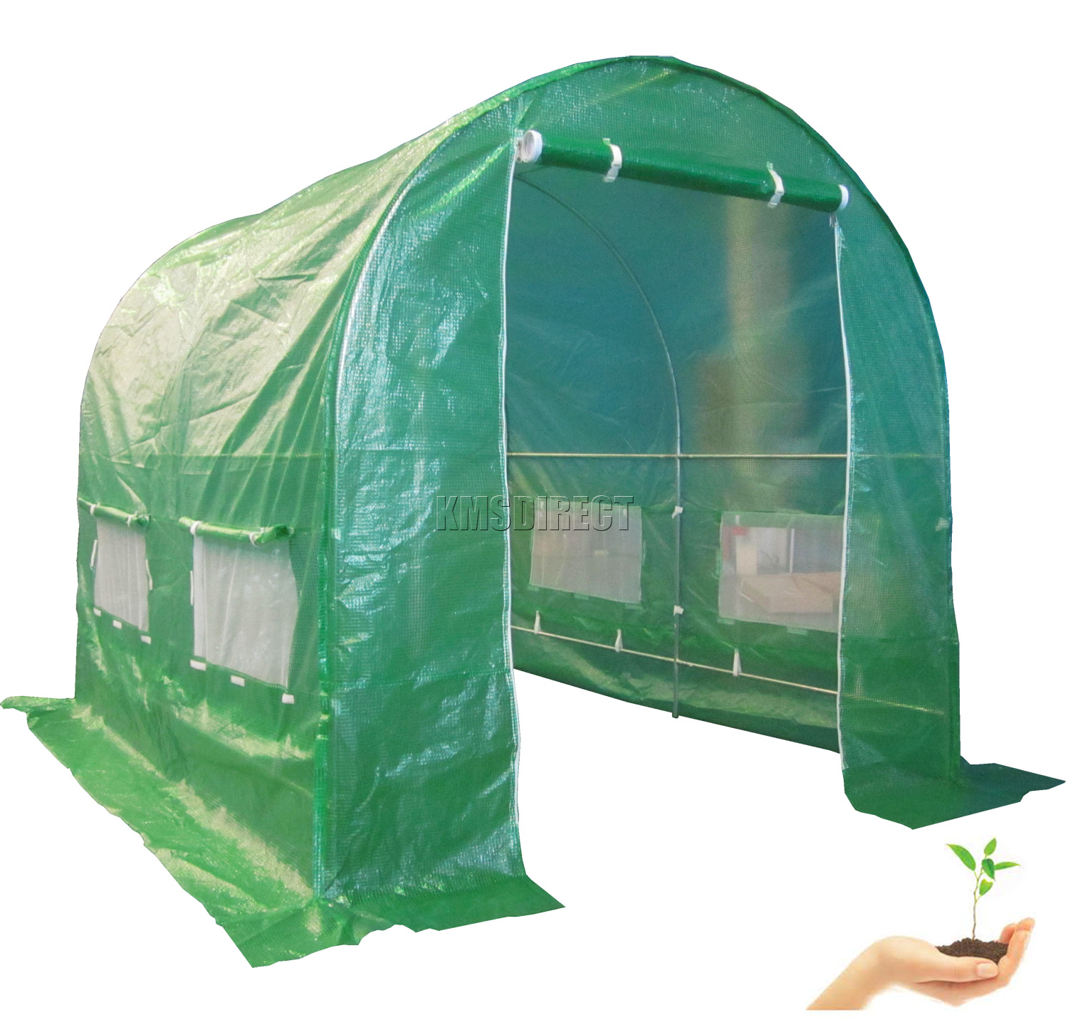 FoxHunter-Fully-Galvanised-Frame-Polytunnel-Greenhouse-Pollytunnel-Poly-Tunnel
