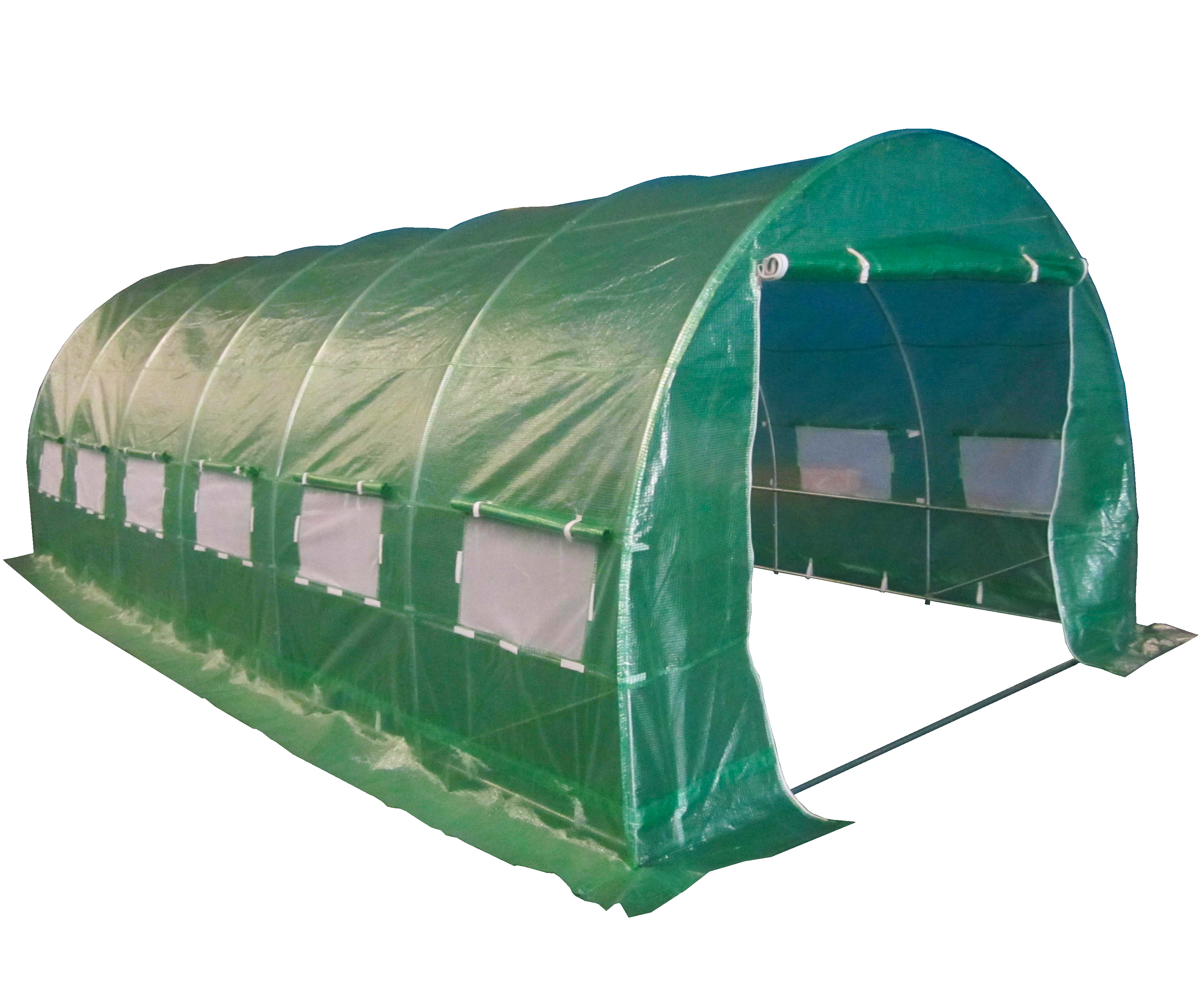 Polytunnel Galvanised Frame 6m x 3m Greenhouse Pollytunnel Poly Tunnel 6 Section | eBay