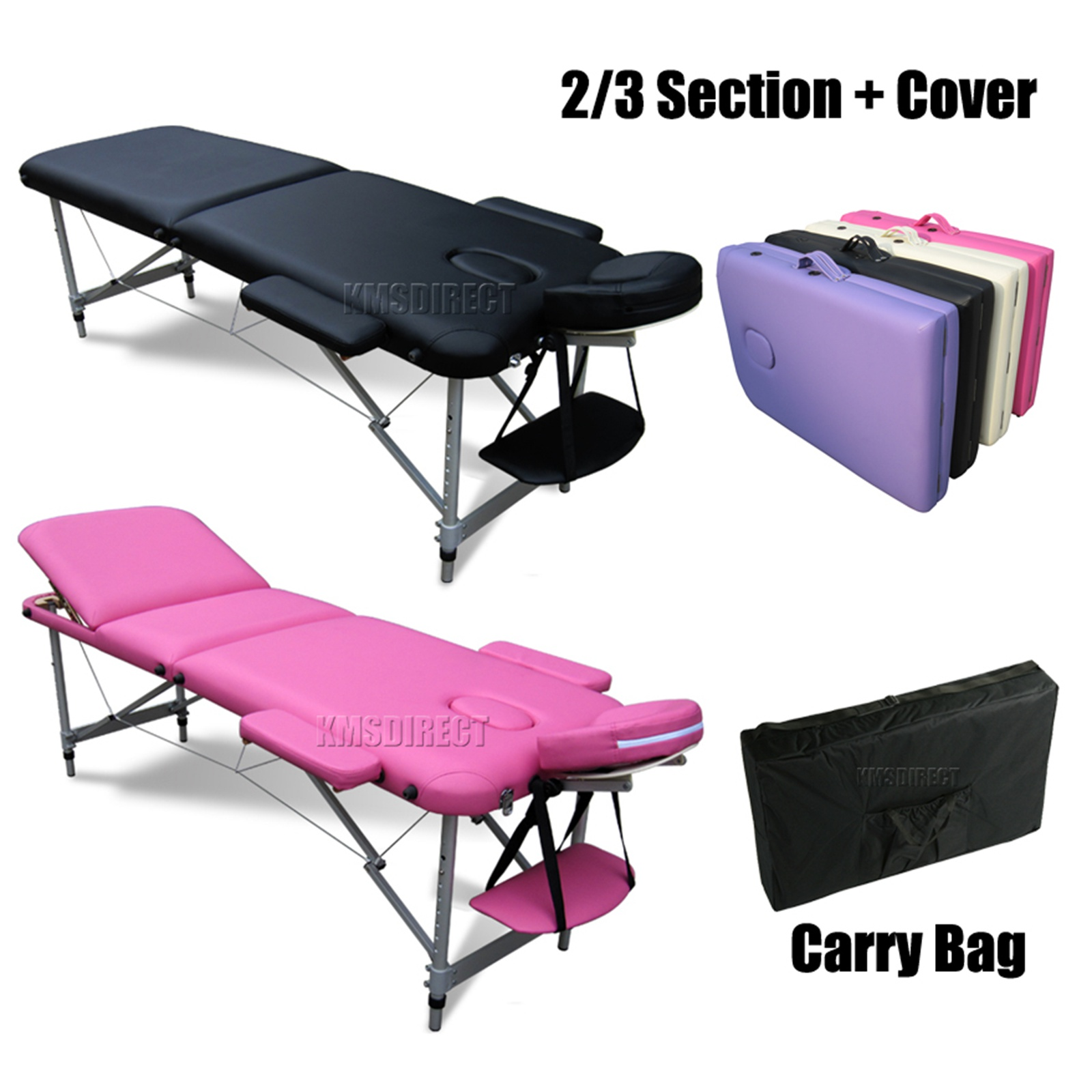 Foxhunter portable folding massage table beauty salon for Beauty salon bed