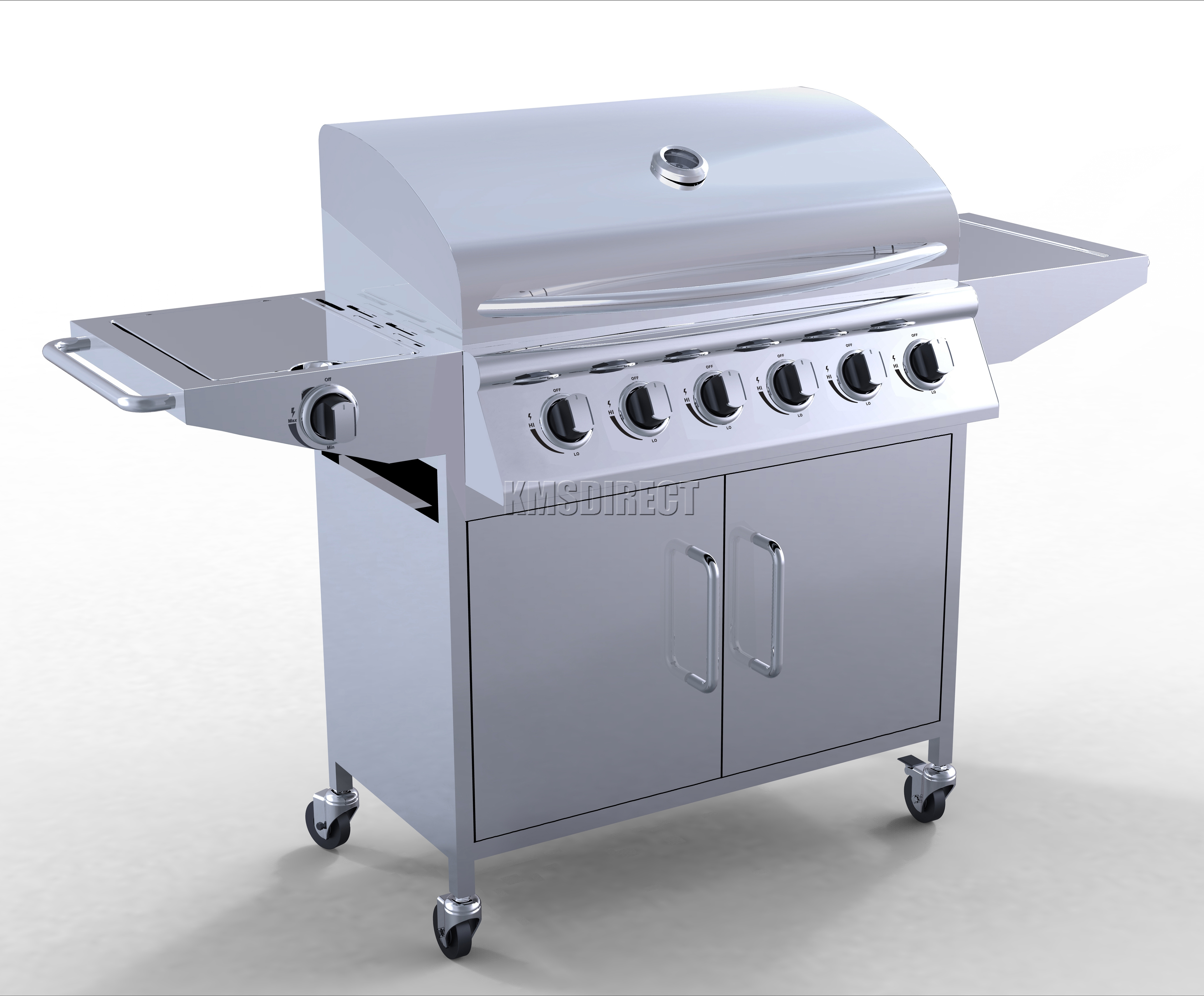 Foxhunter 6 Burner Bbq Gas Grill Stainless Steel Barbecue