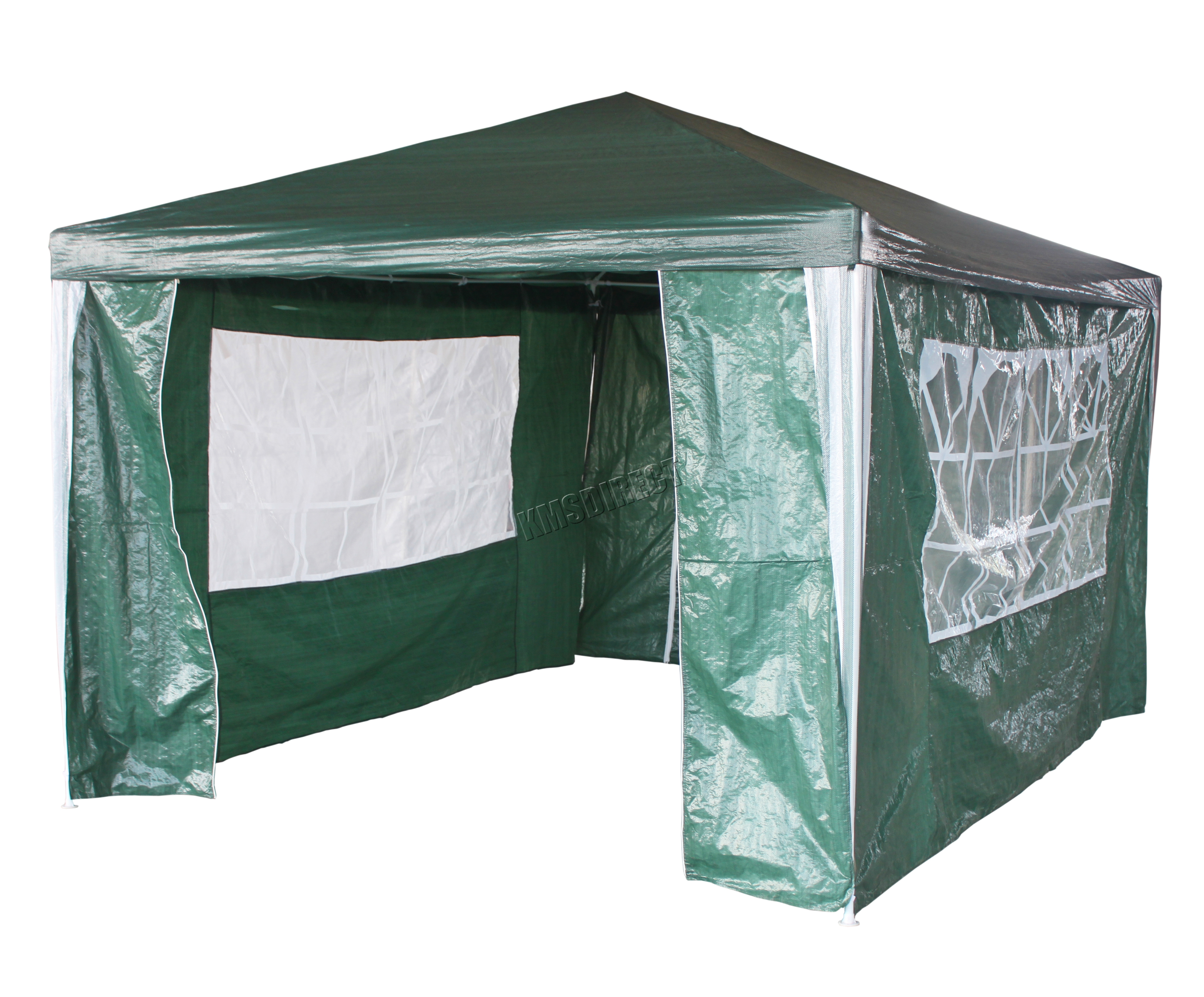 New 3 x 4m 120g Waterproof Outdoor PE Garden Gazebo Marquee Canopy ...