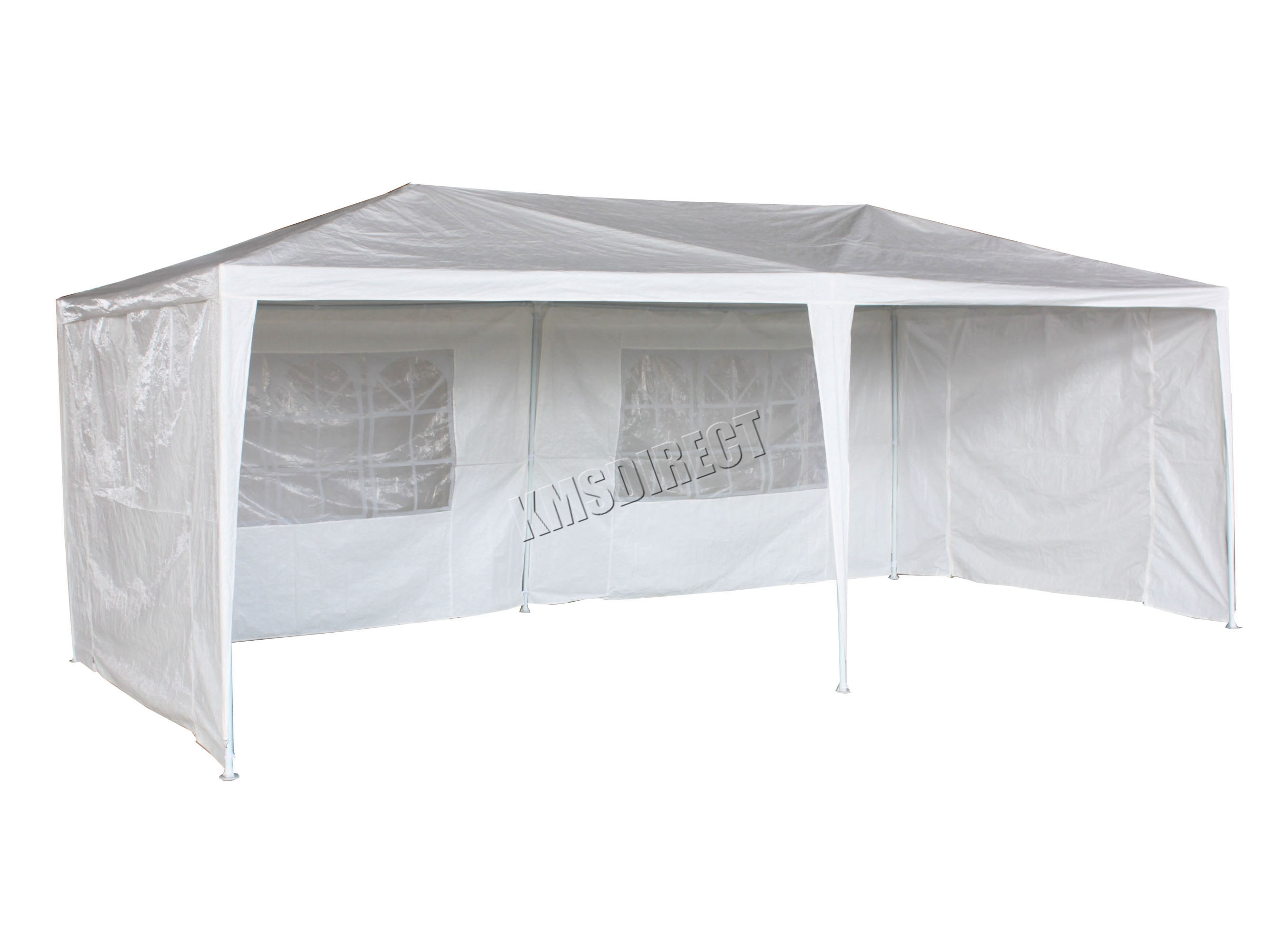 New Waterproof 3m x 6m PE Outdoor Garden Gazebo Party Tent Marquee ...