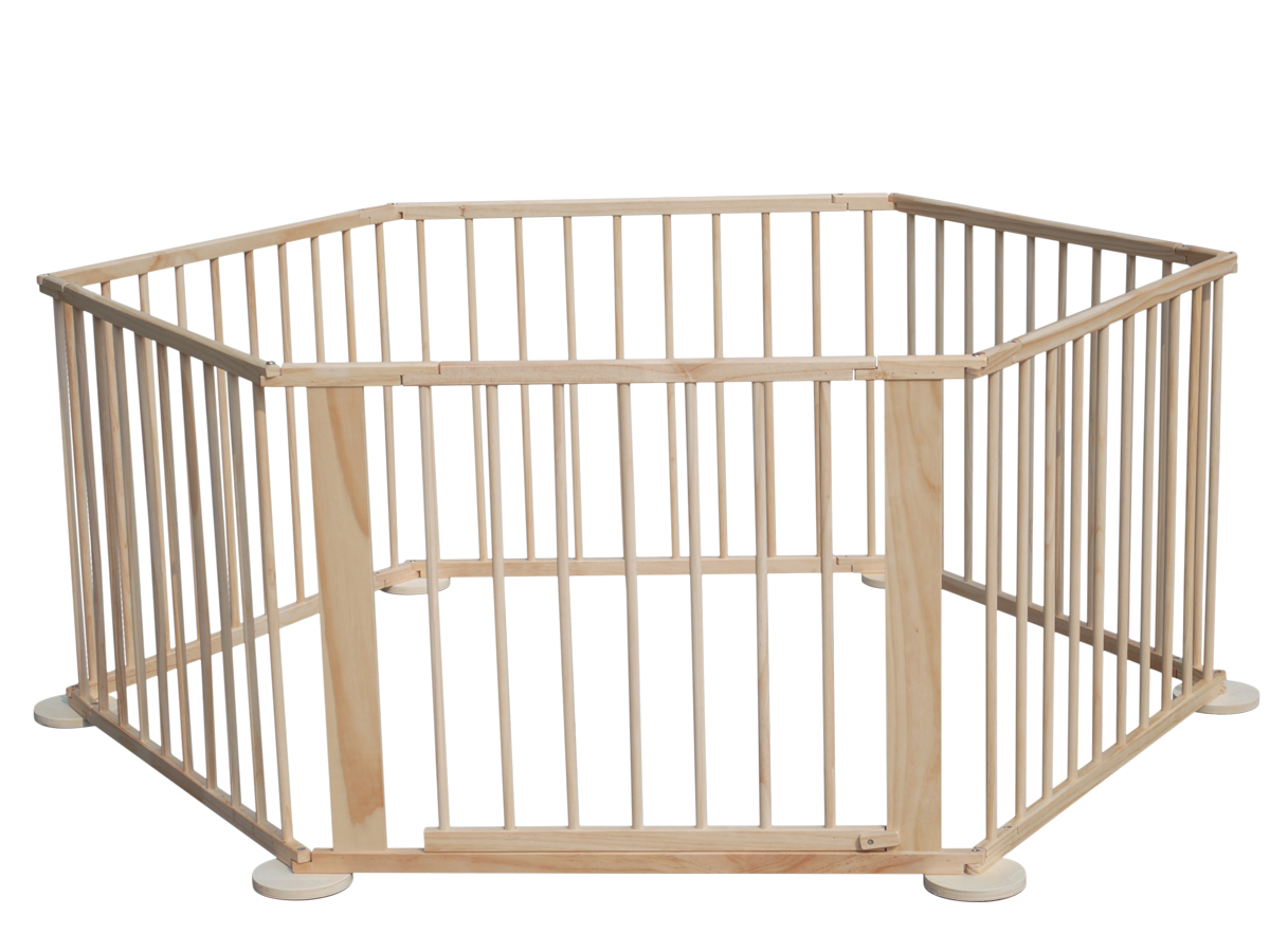 Westwood 6 Side Baby Child Wooden Foldable Playpen Play
