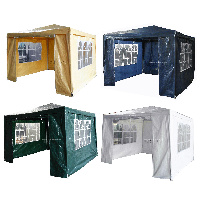 foxhunter 3m x 3m 4m 6m 9m pe gazebo waterproof garden. Black Bedroom Furniture Sets. Home Design Ideas