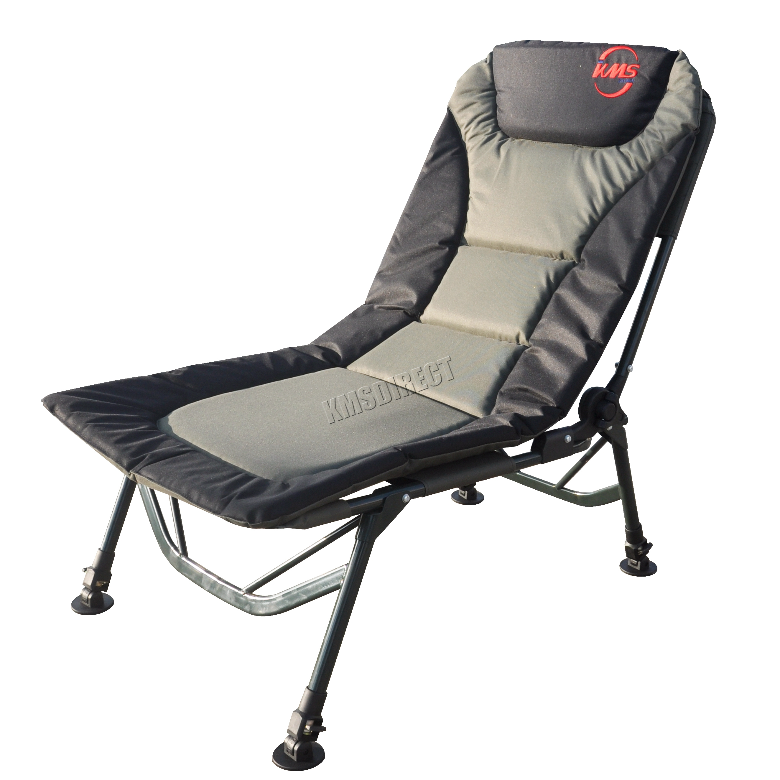 Kms Portable Folding Fishing Chair Xl Camping Chair 4 Adjustable Legs 5055418313643 Ebay