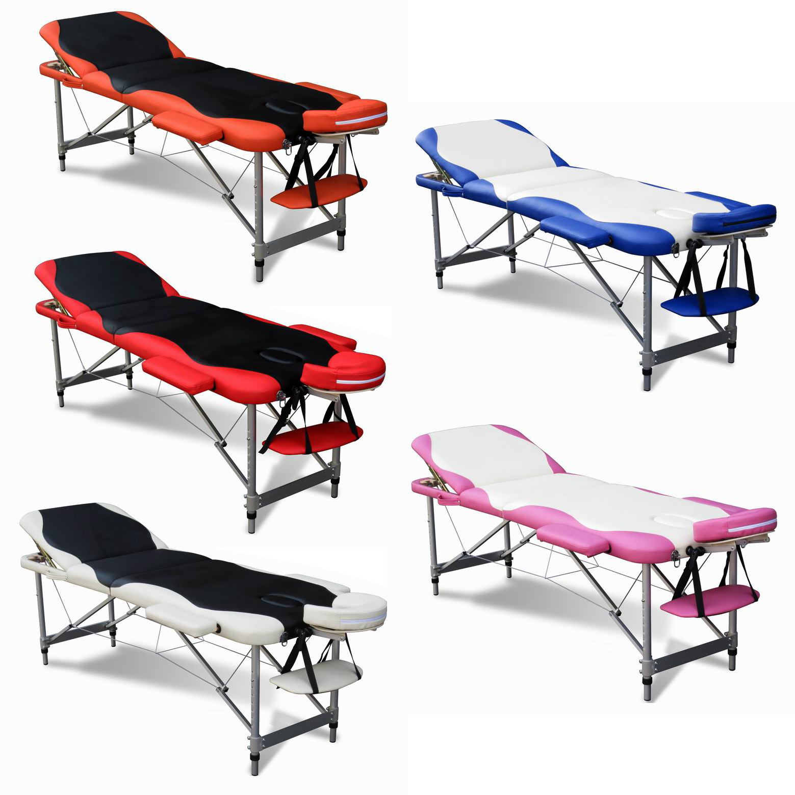 Luxury lightweight portable folding massage table bed for Beauty salon bed