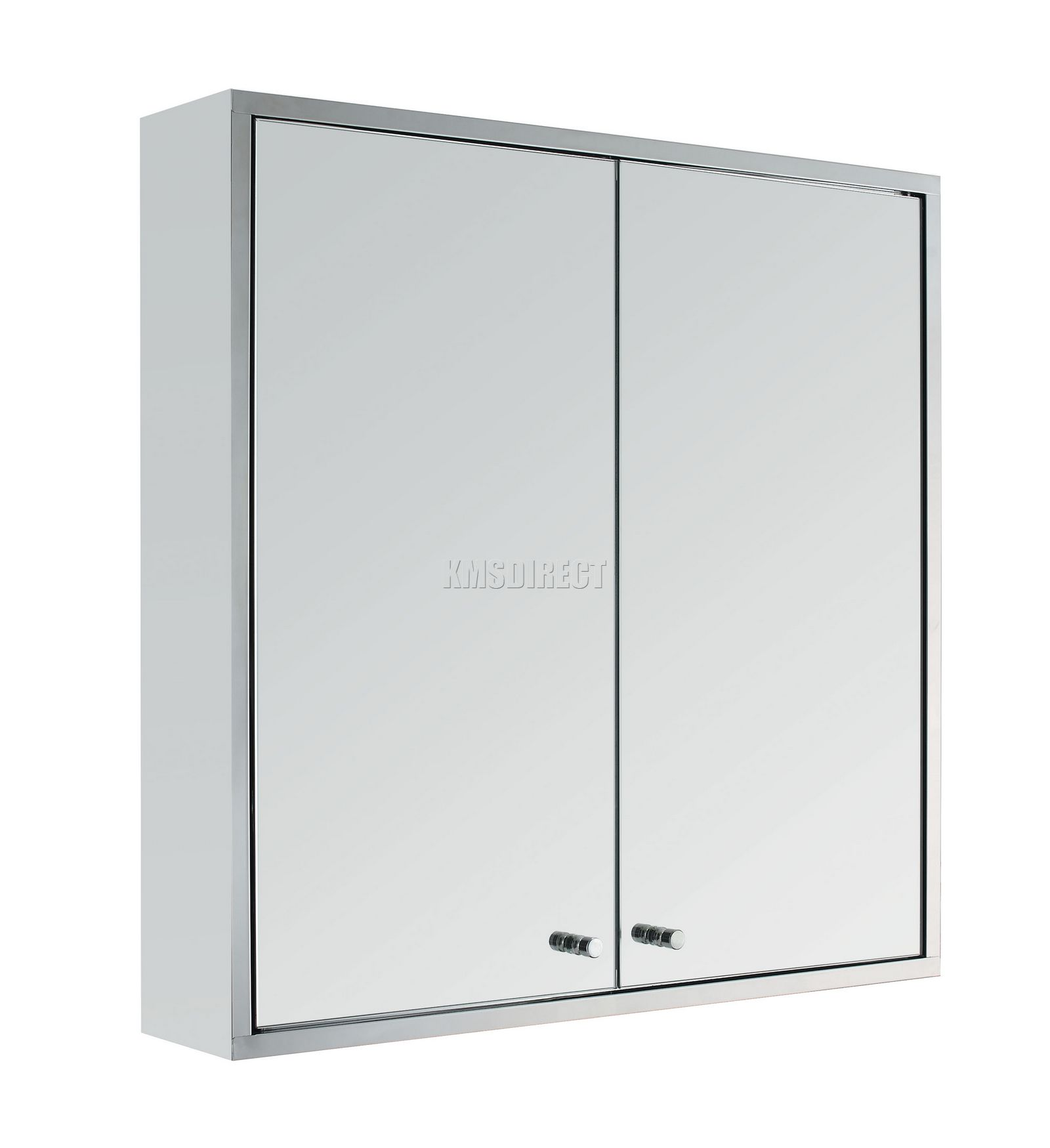 Stainless Steel Wall Mount Mirror Bathroom Cabinet Storage