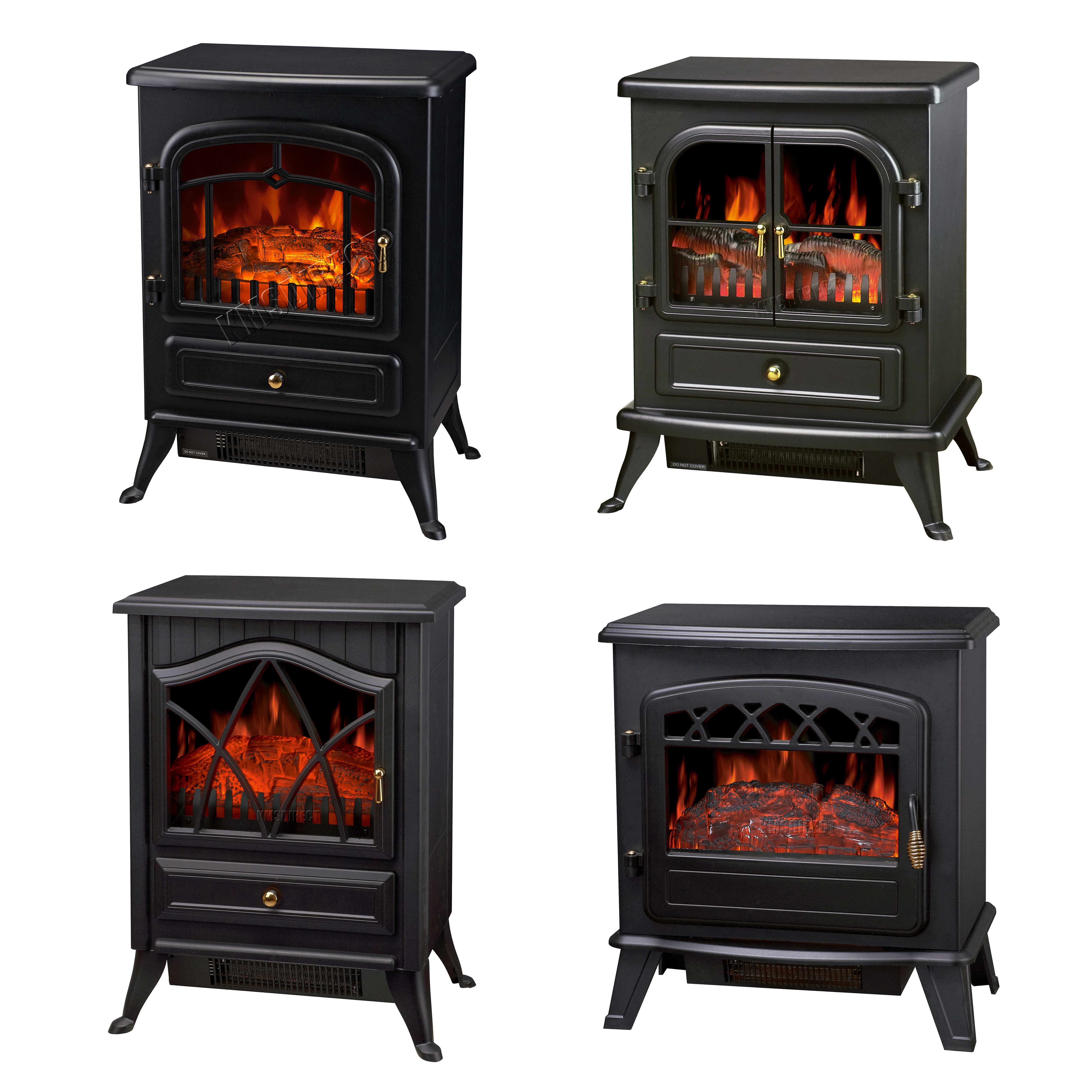 Fireplace Doesnt Heat: New 1850W Log Burning Flame Effect Stove Electric Fire