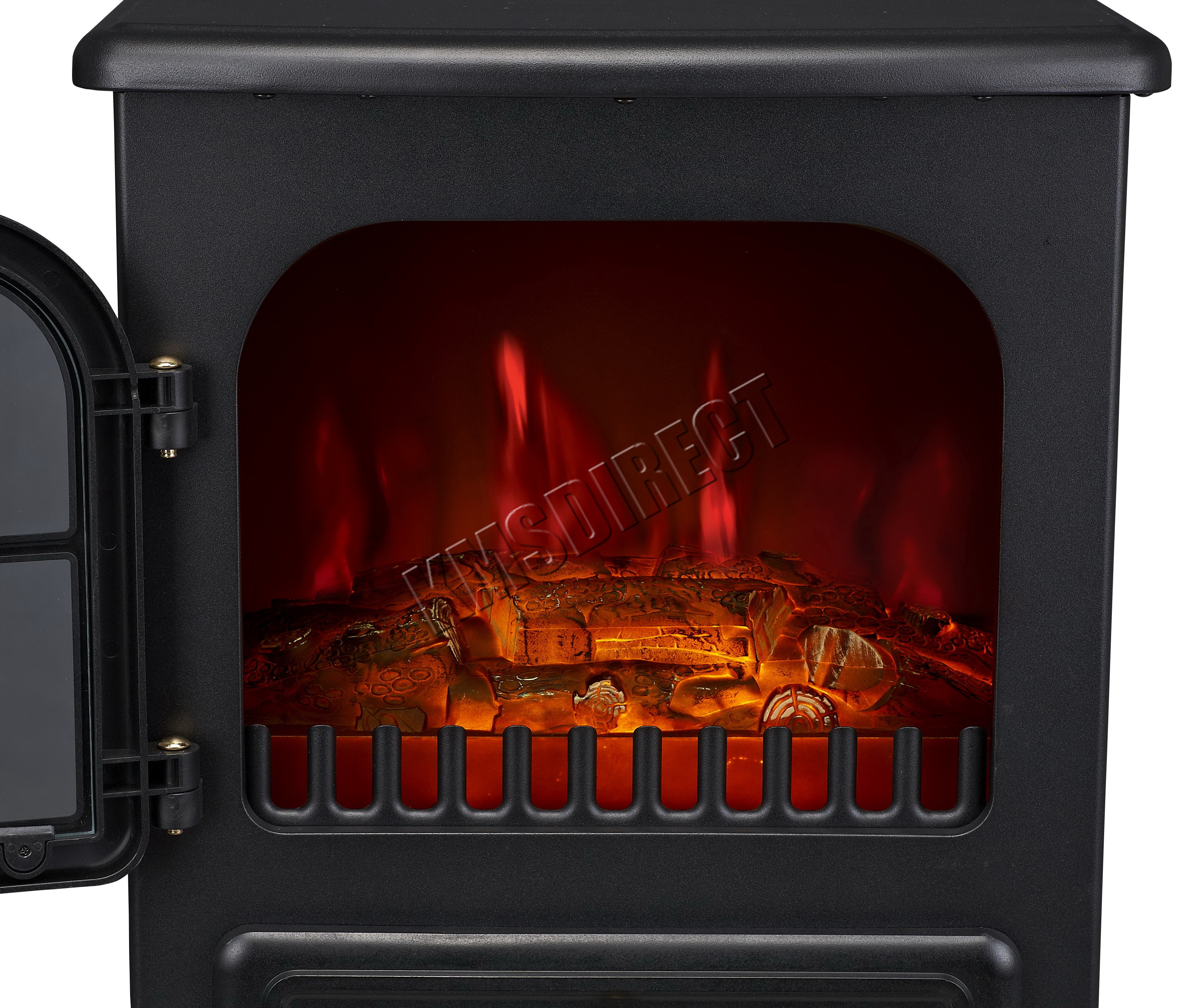 Beautiful Flame Effect Electric Fires Part - 10: Sentinel Log Burning Flame Effect 1850W Electric Fire Heater Standing  Fireplace Stove Fan