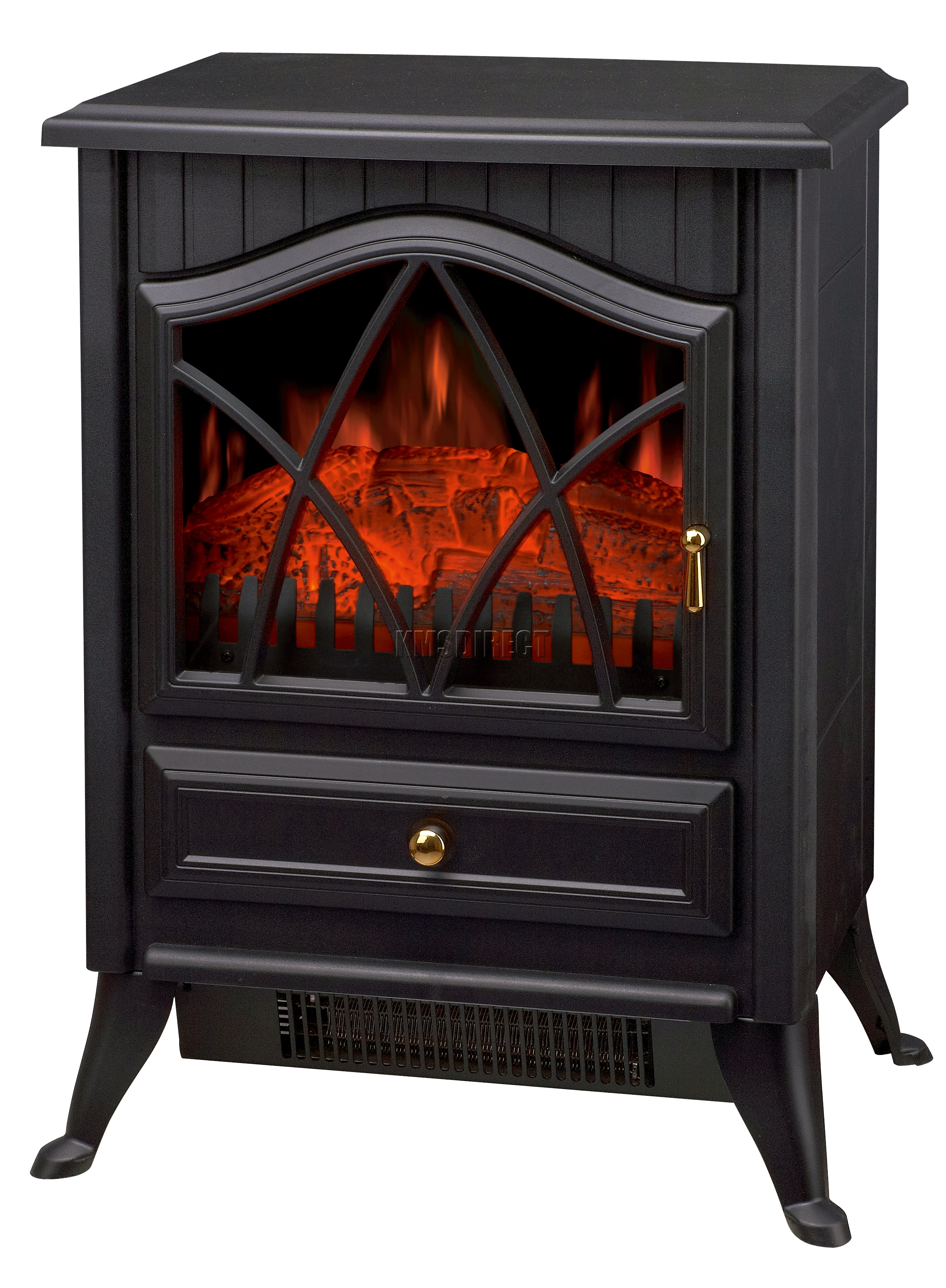 Log Burning Flame Effect 1850W Electric Fire Heater Standing ...