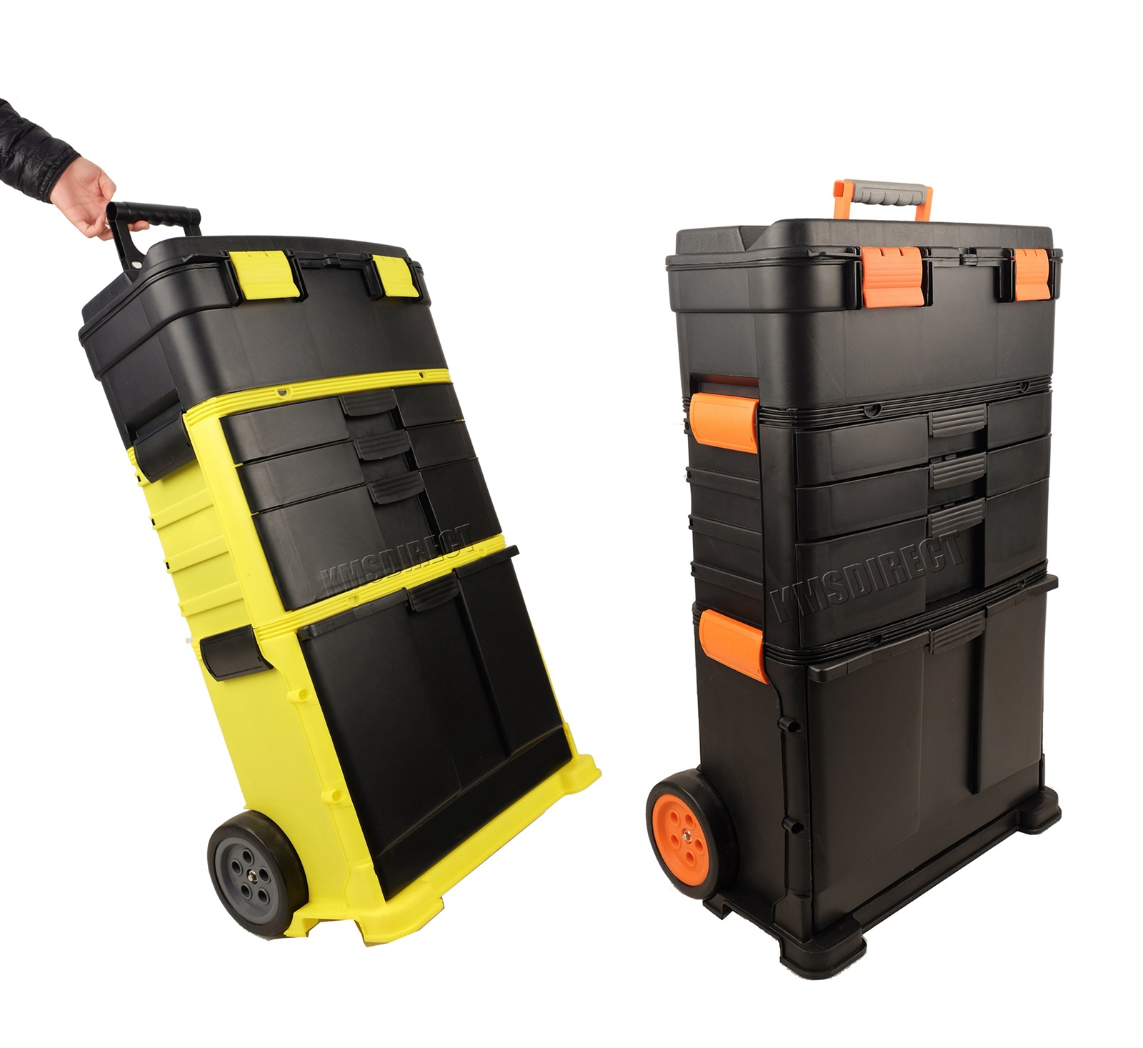 Foxhunter plastic mobile roller work shop chest trolley storage tool box toolbox ebay - The mobile office working on two wheels ...