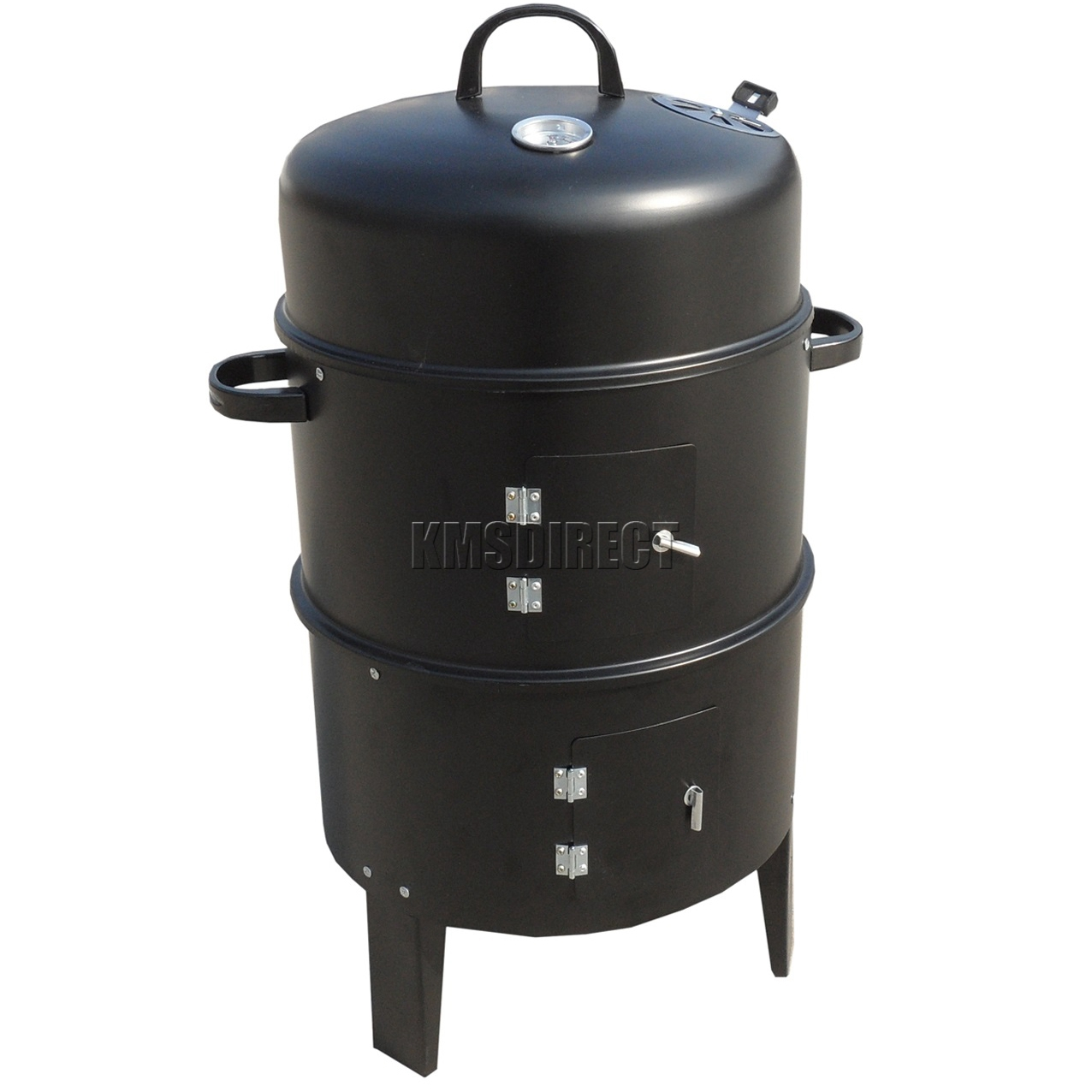 foxhunter black bbq charcoal grill barbecue smoker garden outdoor cooking steel ebay. Black Bedroom Furniture Sets. Home Design Ideas