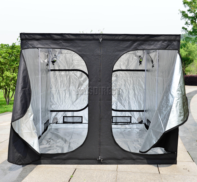 Sentinel FoxHunter 2.4 X 2.4 X 2m Grow Tent Silver Mylar Hydroponic Bud Dark Green Room & FoxHunter 2.4 X 2.4 X 2m Grow Tent Silver Mylar Hydroponic Bud ...