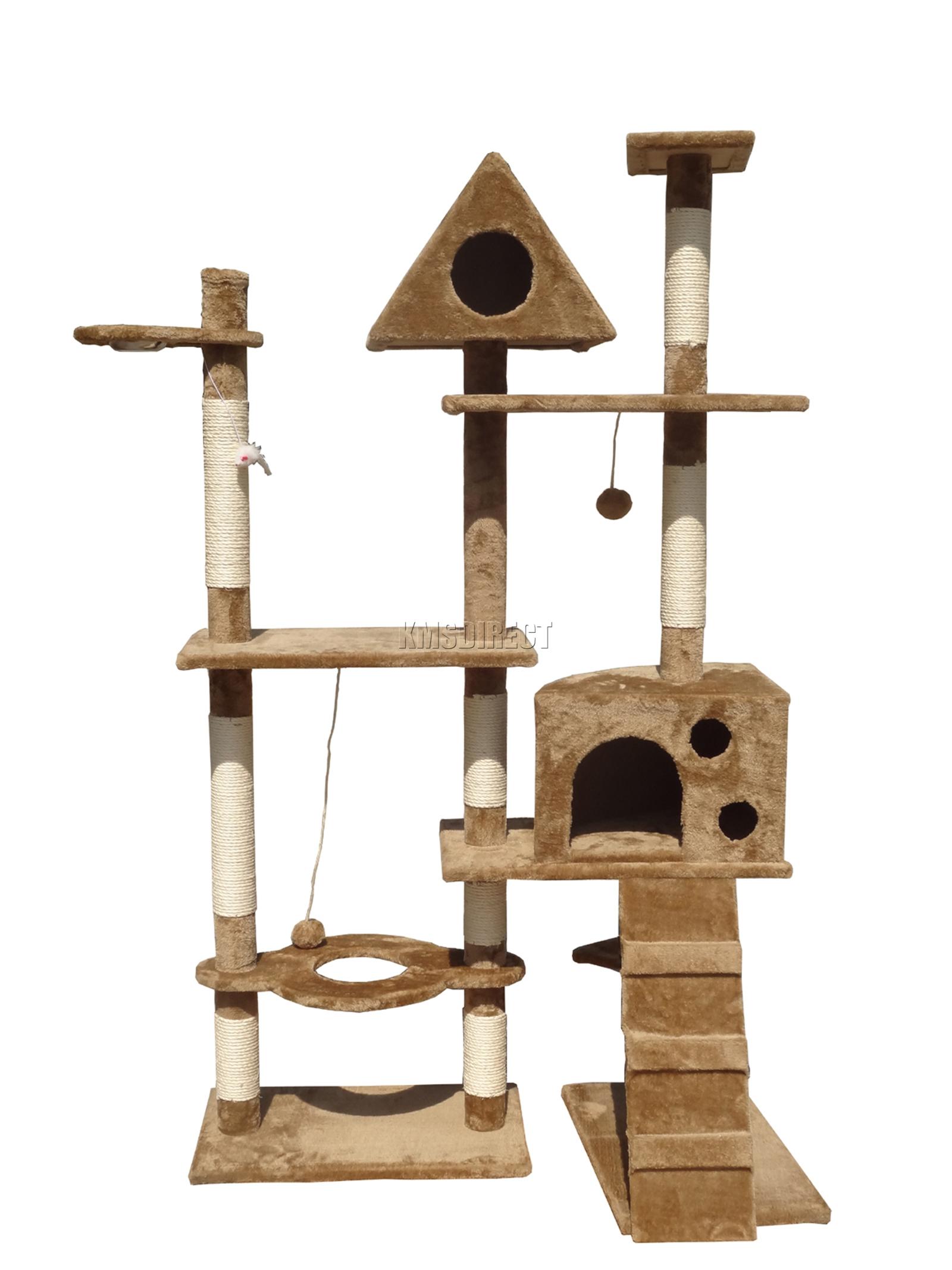 Foxhunter kitten cat tree scratching post activity centre bed toy scratcher 2200 ebay - Cat bed scratcher ...