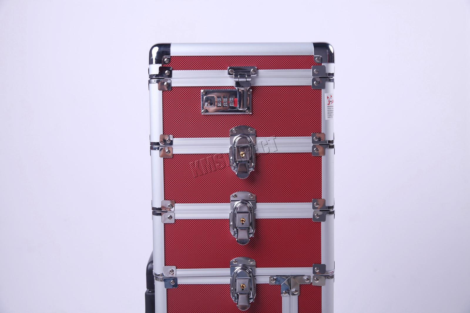 Make-up Koffer Trolley 2 Räder Werkzeugtrolley Friseurkoffer Koffer, Taschen & Accessoires Tool Beauty Case