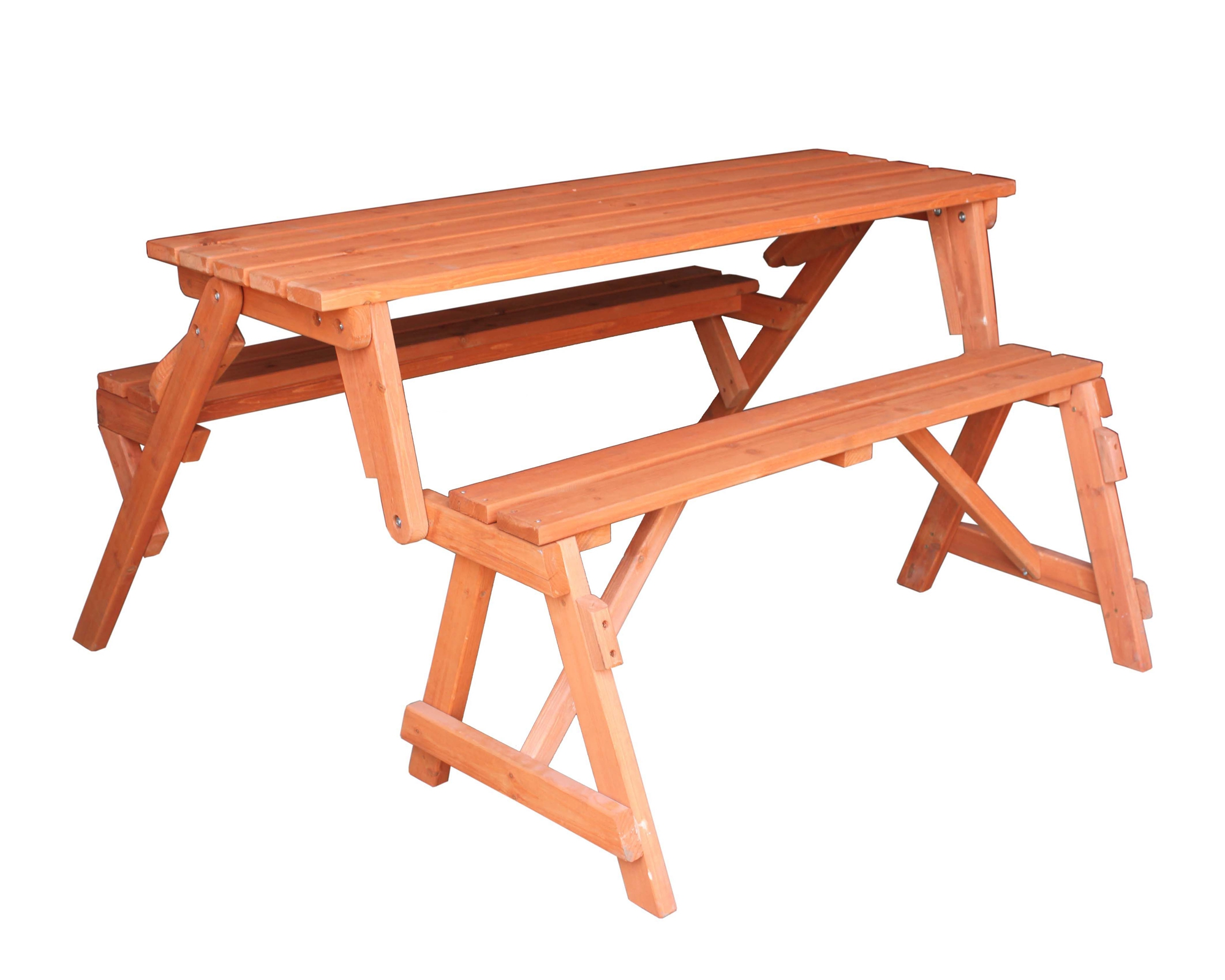 WOODEN FOLDING BENCH PICNIC GARDEN SEAT TABLE 2 in 1 OUTDOOR SEATS
