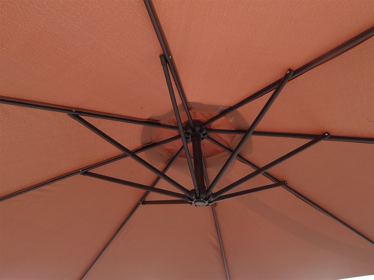 WestWood 3m Garden Parasol Patio Sun Shade Banana Hanging Crank ...