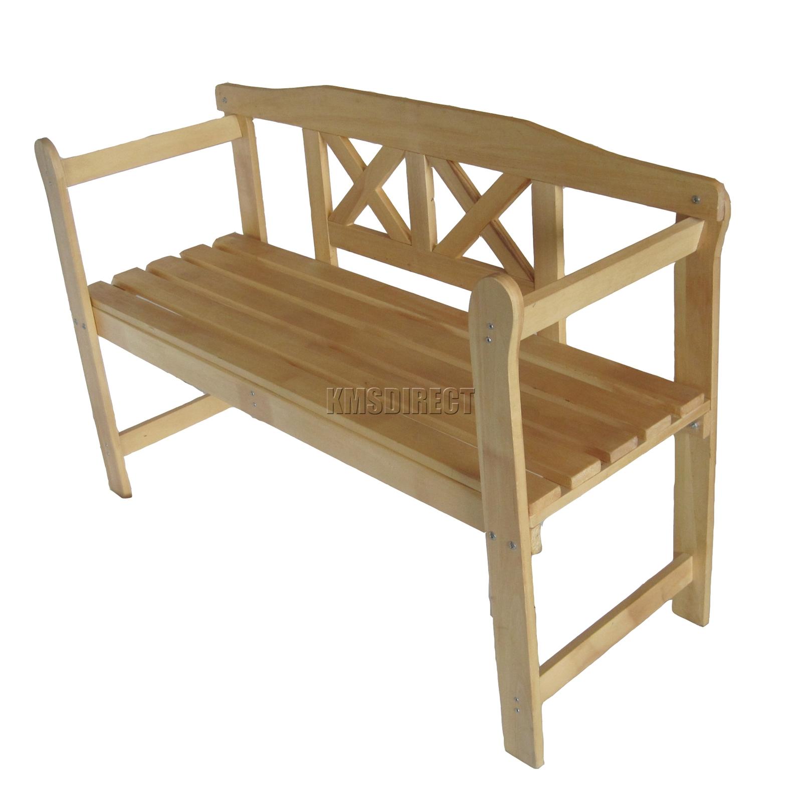 FoxHunter Outdoor Home 2 Seat Seater Wooden Garden Bench ...