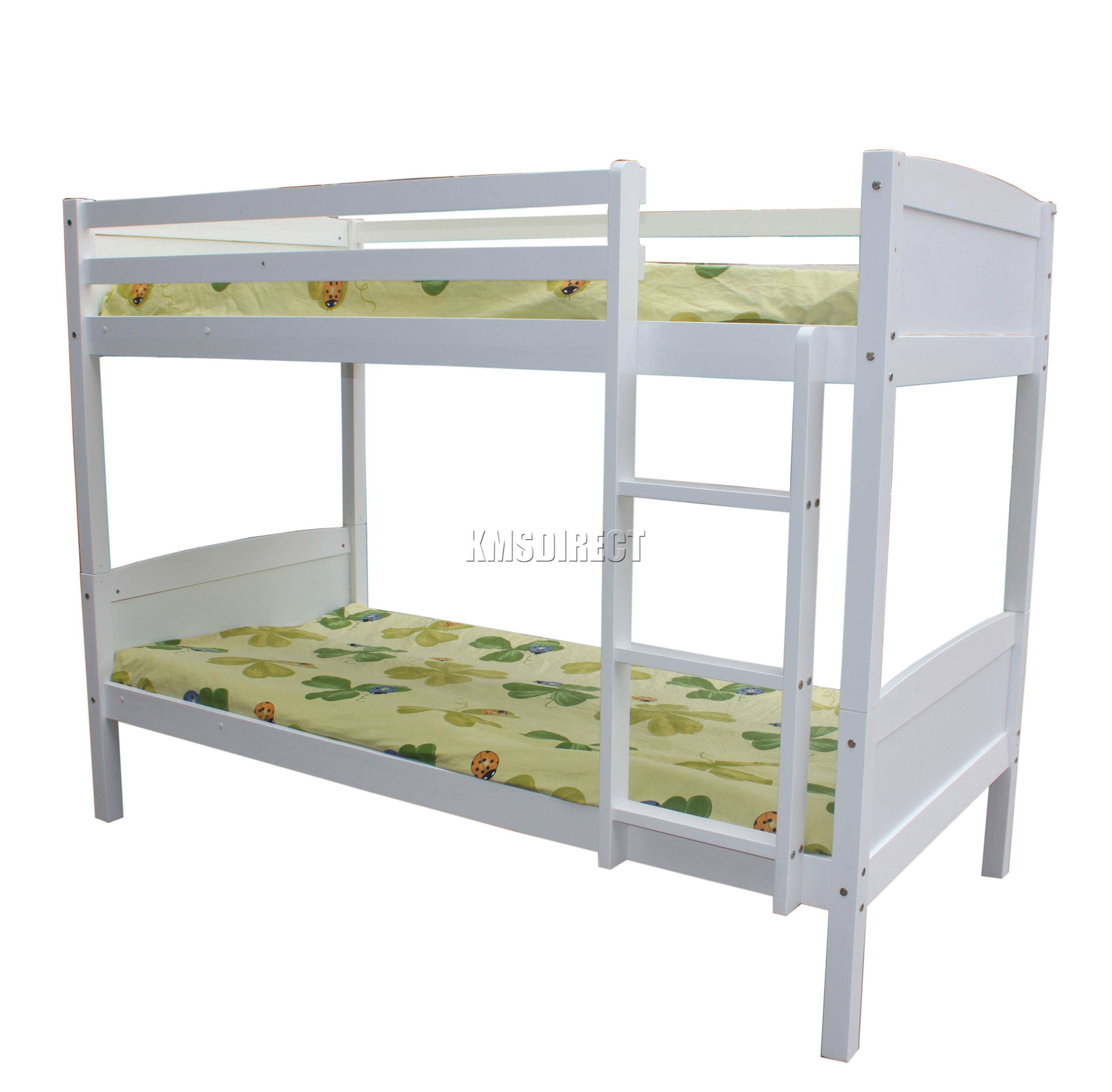 Foxhunter bunk bed 3ft wood wooden frame children sleeper for Single bunk bed frame