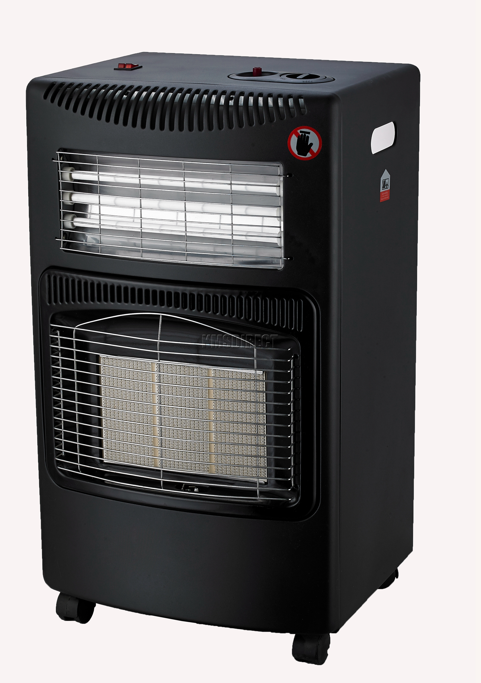 Foxhunter Portable Butane Fire Calor Gas Electric Cabinet