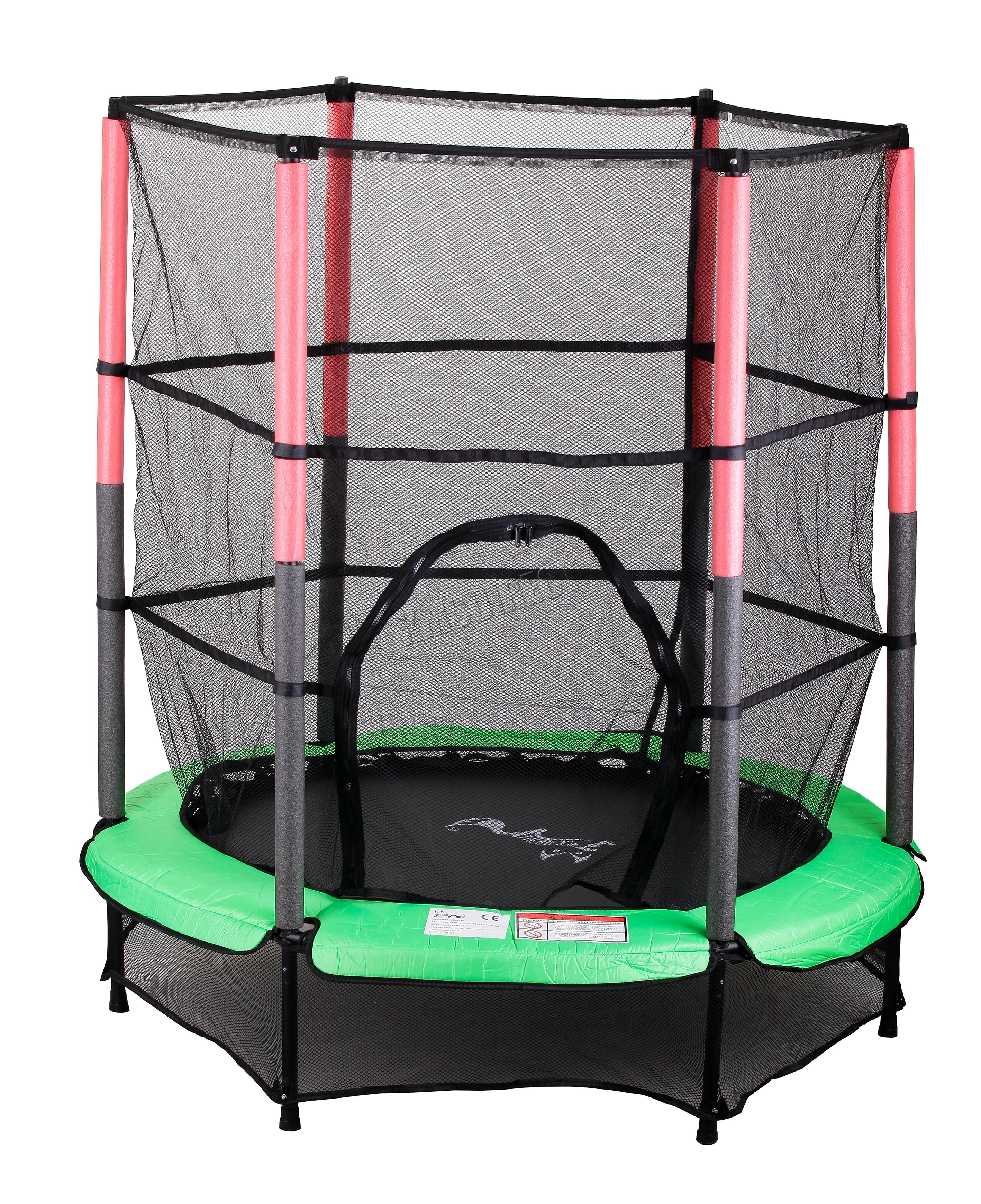 8ft Trampoline Safety Net Enclosure Ladder Rain Cover Shoe: Trampoline With Safety Enclosure Net Ladder Rain Cover 8FT