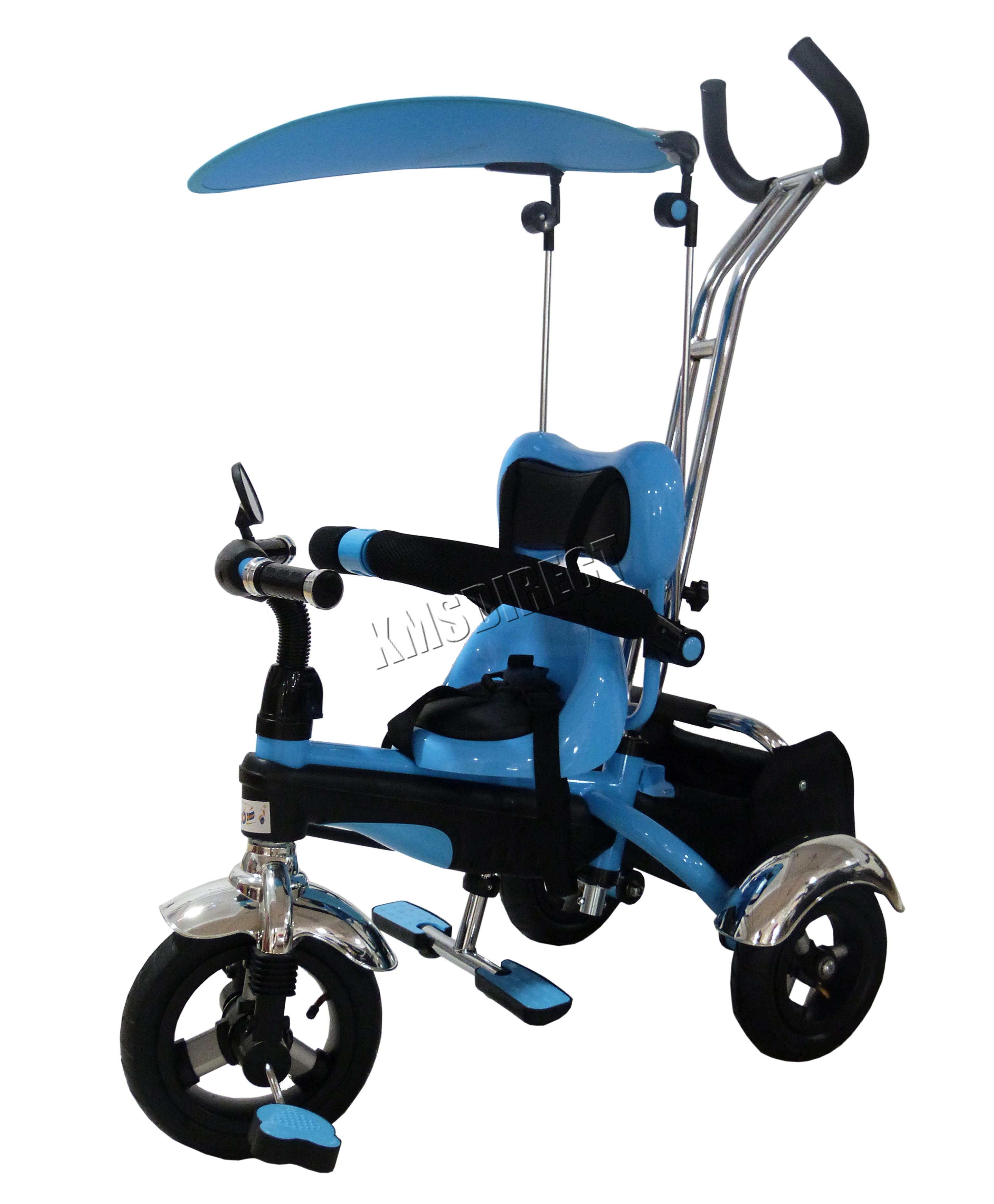 FoxHunter Children Trike Tricycle 3 Wheel 4in1 Ride Bike Parent ...