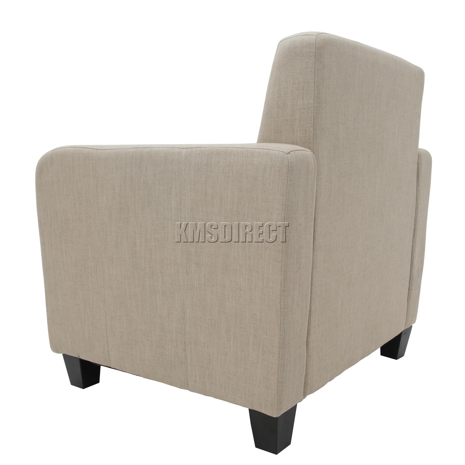 Foxhunter Tub Stuhl Sessel Leinenstoff Esszimmer