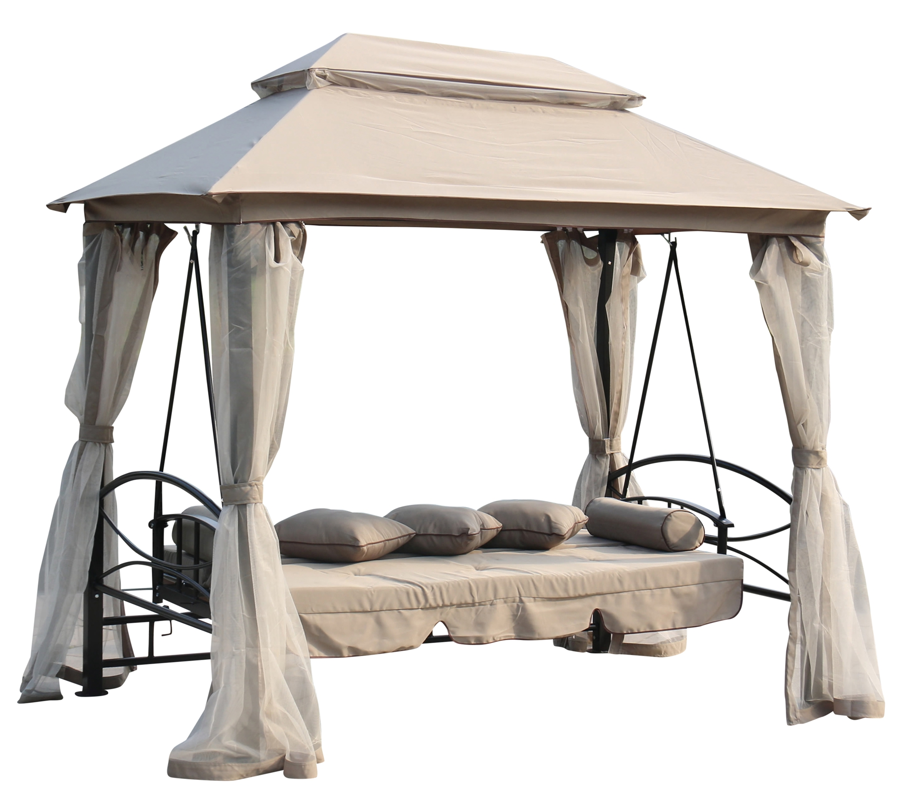 foxhunter garden swing hammock 3 4 seater chair bench bed. Black Bedroom Furniture Sets. Home Design Ideas