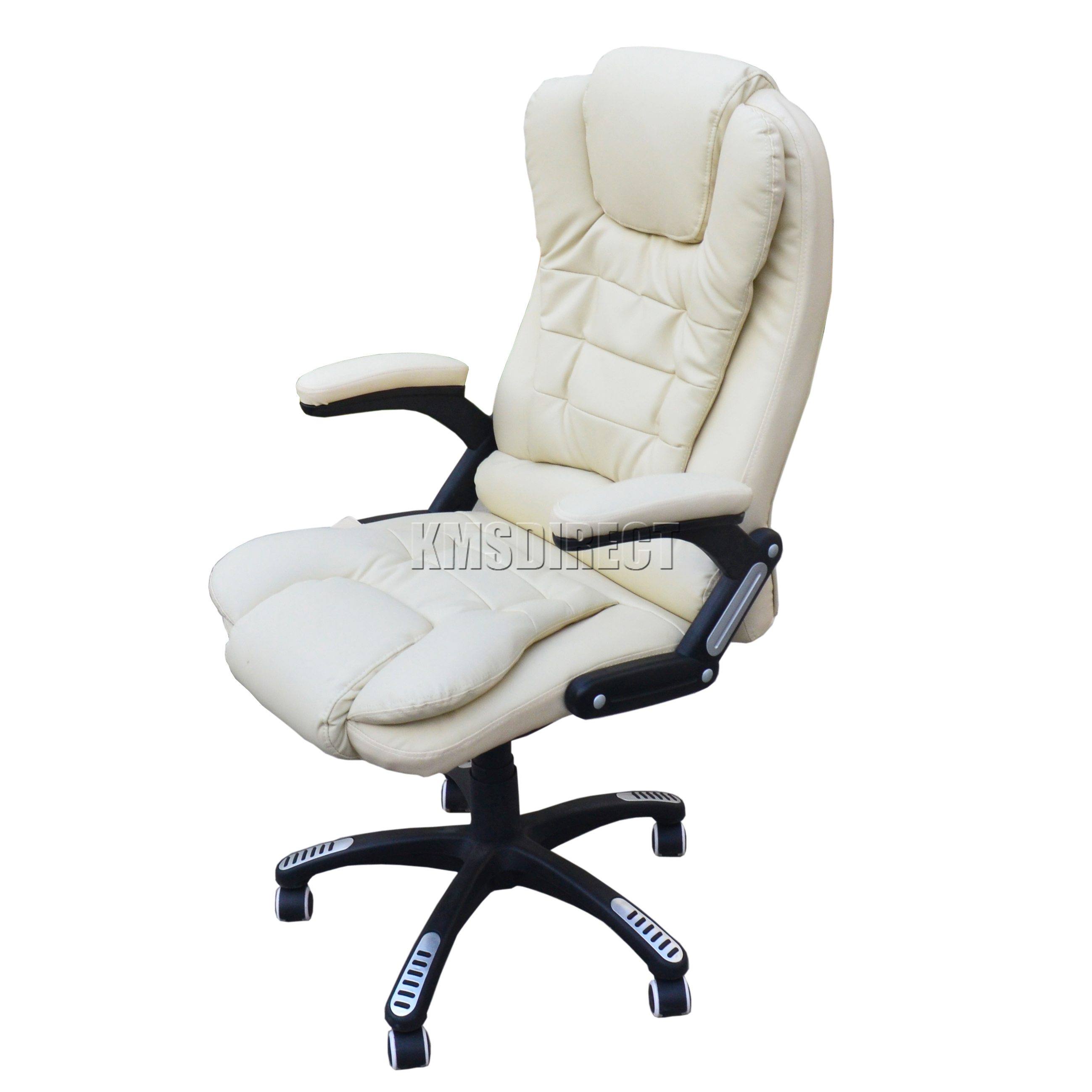 details about foxhunter 6 point massage office computer chair luxury leather swivel reclining