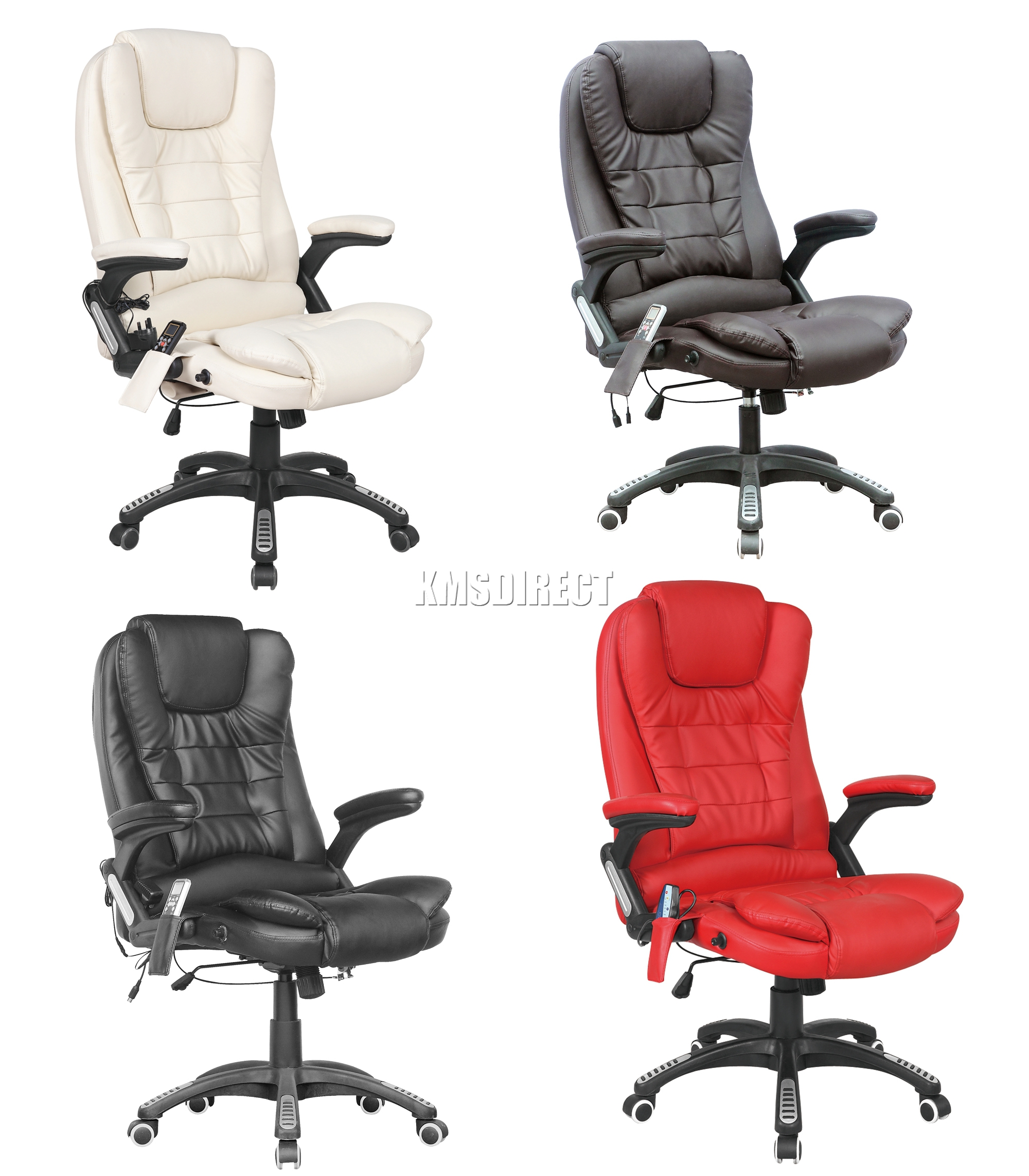Sentinel Foxhunter 8025 Leather 6 Point Mage Office Computer Chair Reclining Swivel