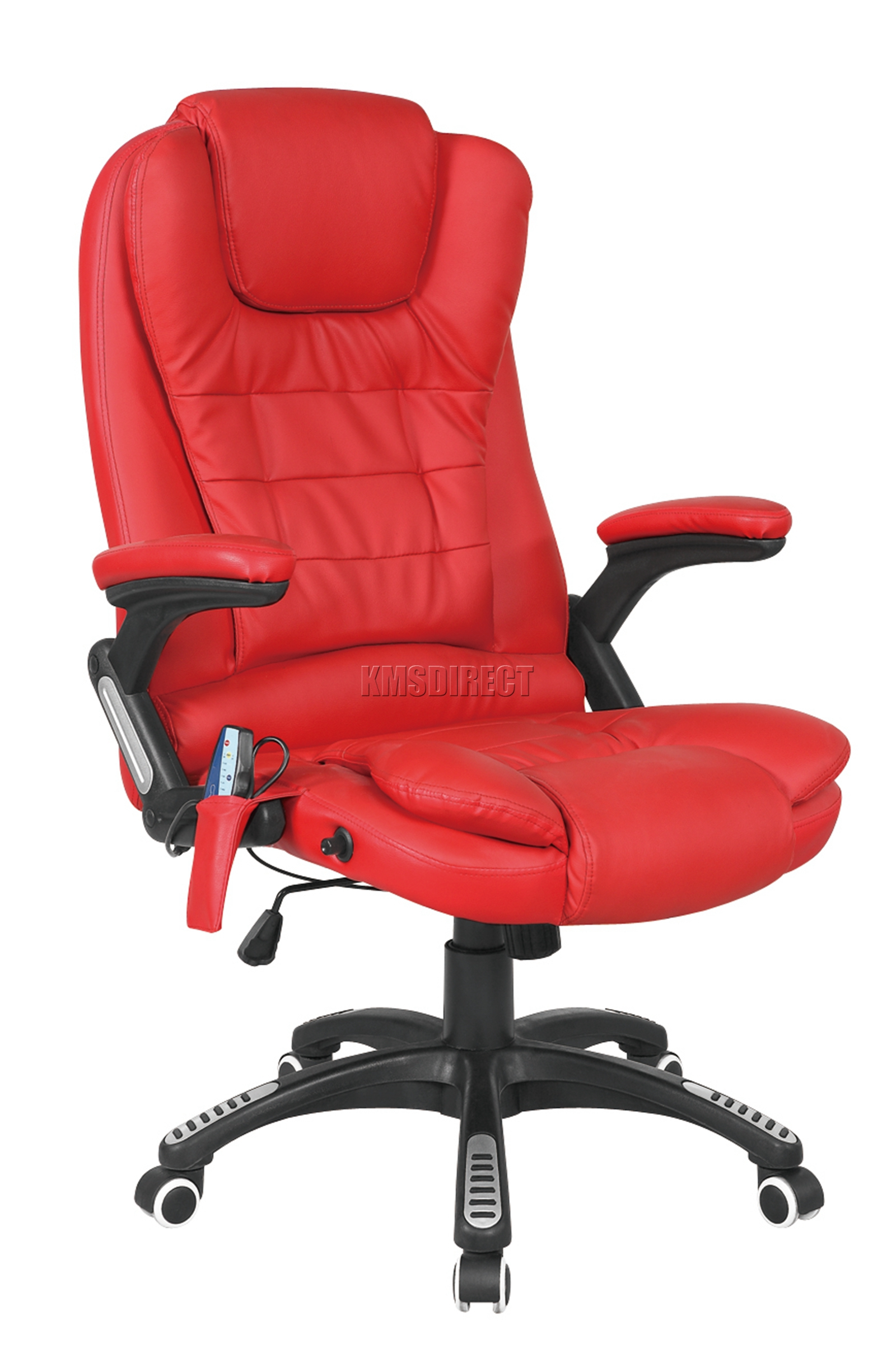 luxury leather office chair. Sentinel FoxHunter 8025 Leather 6 Point Massage Office Computer Chair Reclining Swivel Luxury O