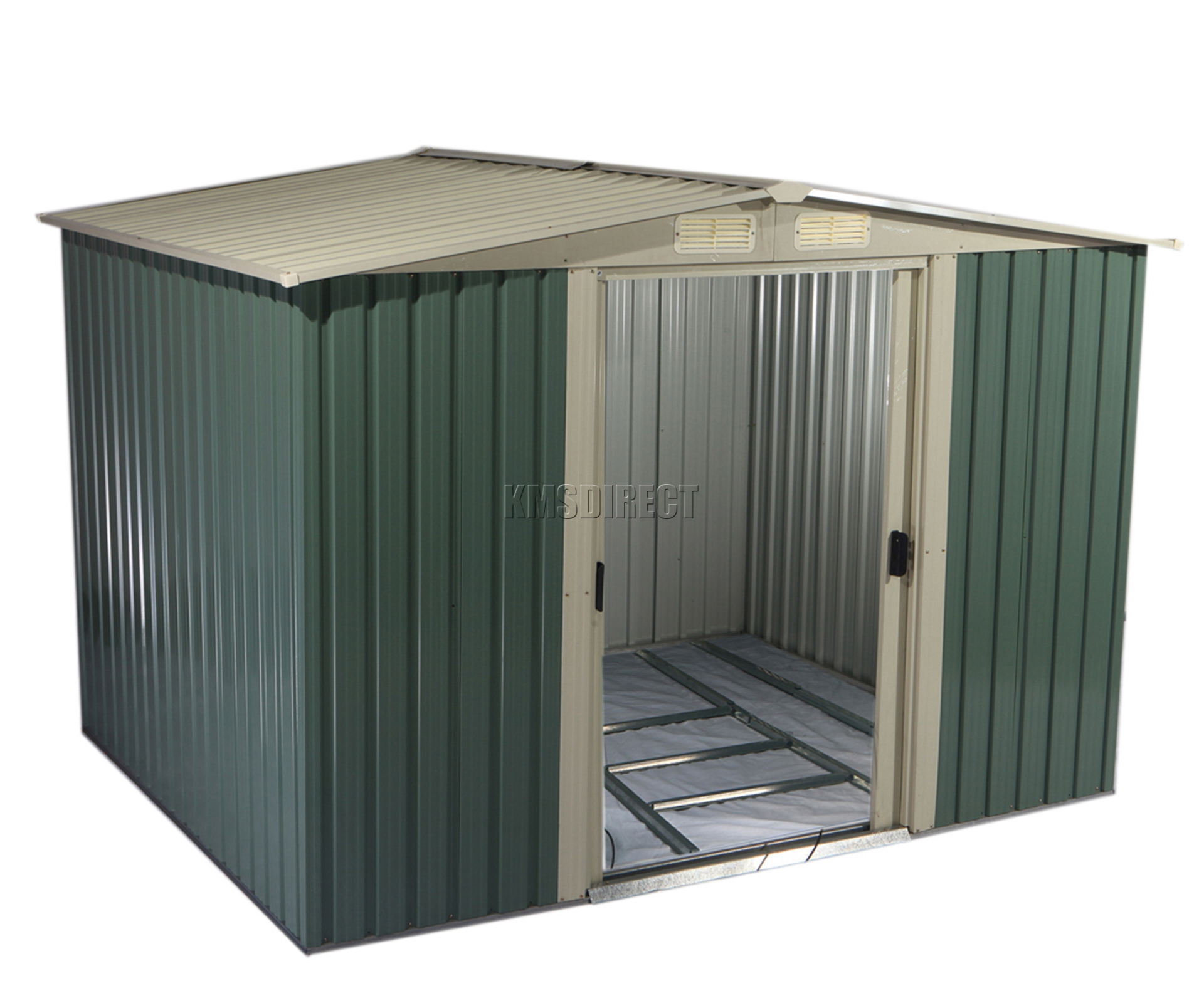 Foxhunter Garden Shed Metal Apex 6 X 8ft Outdoor Storage