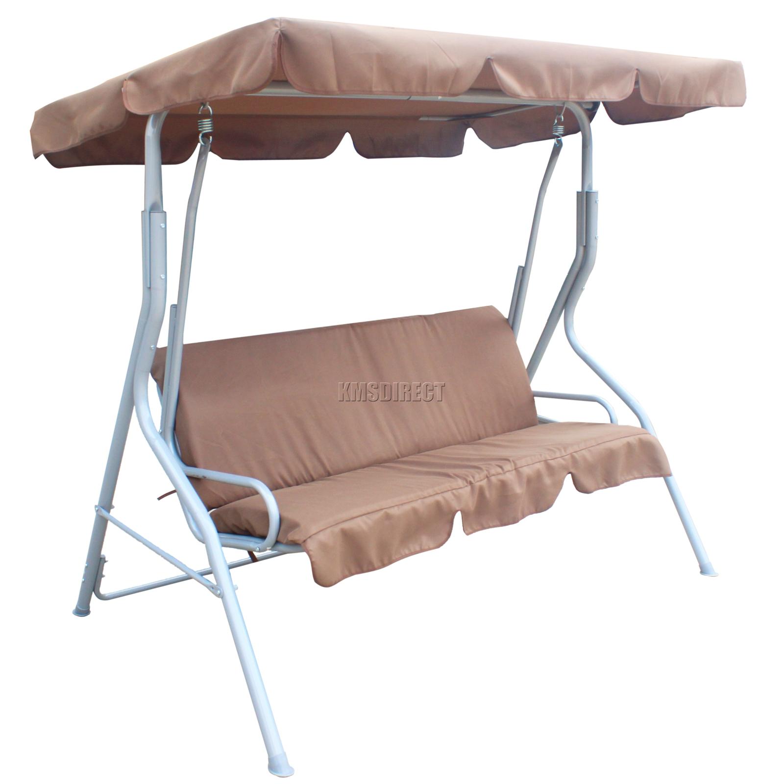 Treasures 3 Seat Steel Casual Swing Replacement Canopy Seater Garden Hammock  Cushions Source Patio Lawson Ridge