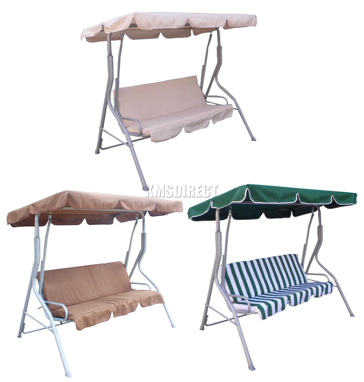 Westwood Garden Metal Swing Hammock 3 Seater Chair Bench