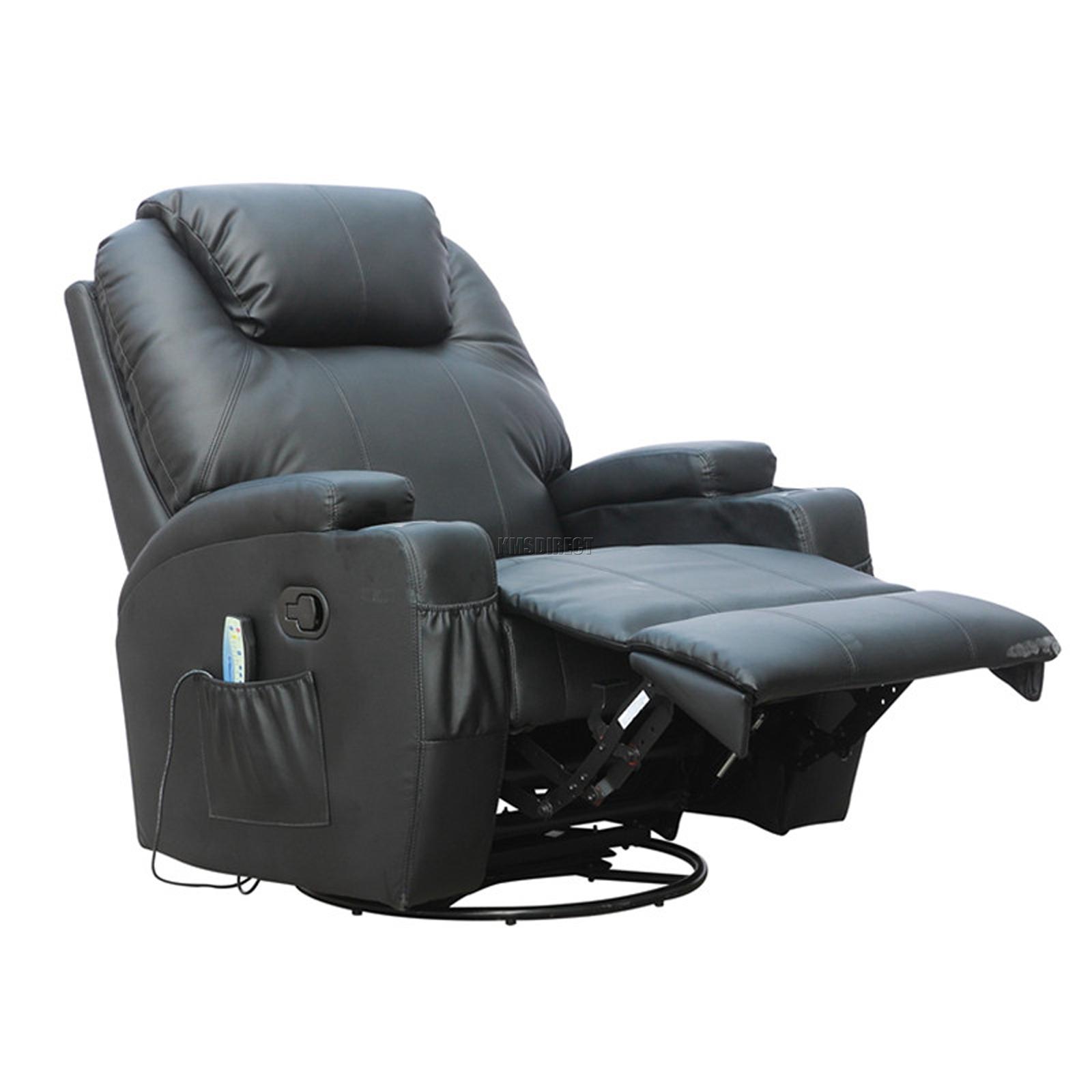 Sofá de butaca reclinable con sistema de masaje de cuero reconstituido Westwood-2441