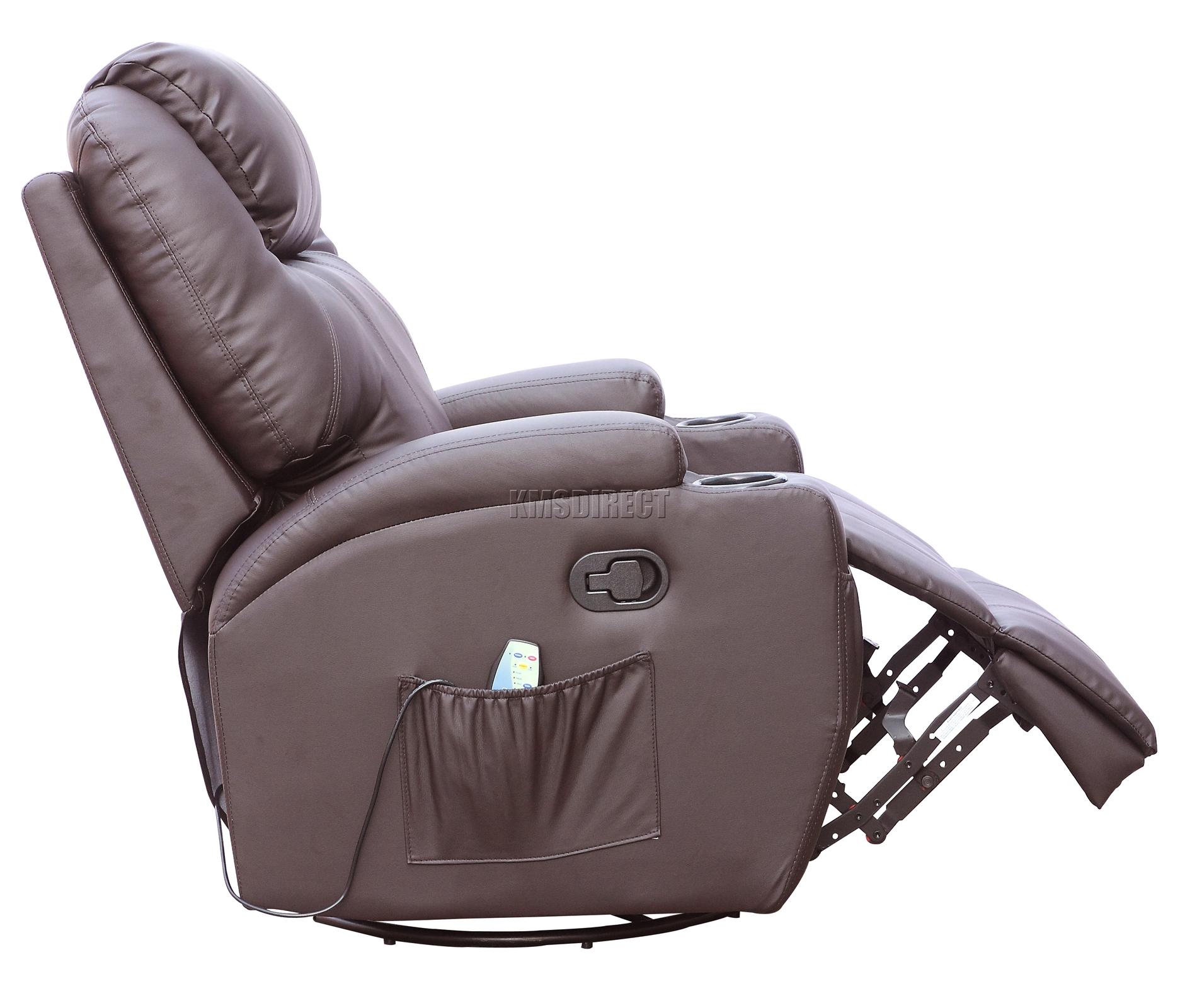 Sofá de butaca reclinable con sistema de masaje de cuero reconstituido Westwood-2293