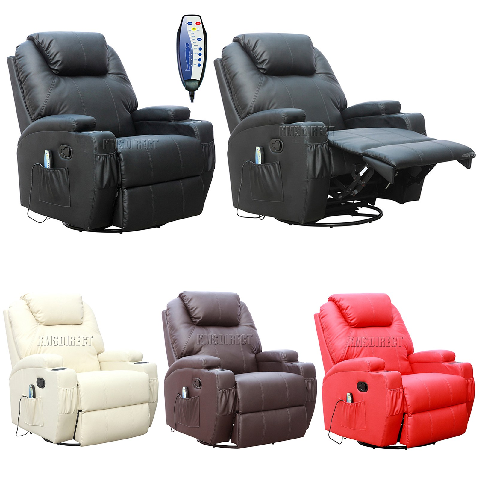 Picture of: Westwood Bonded Leather Massage Recliner Chair Cinema Sofa Armchair Swivel Heat Ebay
