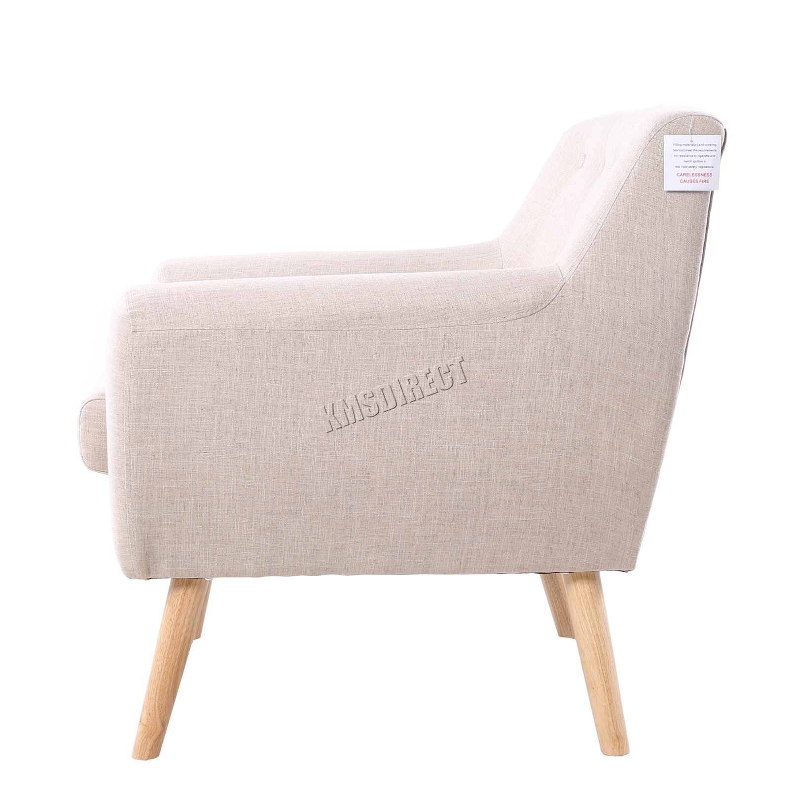 Sentinel FoxHunter Linen Fabric 1 Single Seat Sofa Tub Arm Chair Dining Room SSSF 03 New