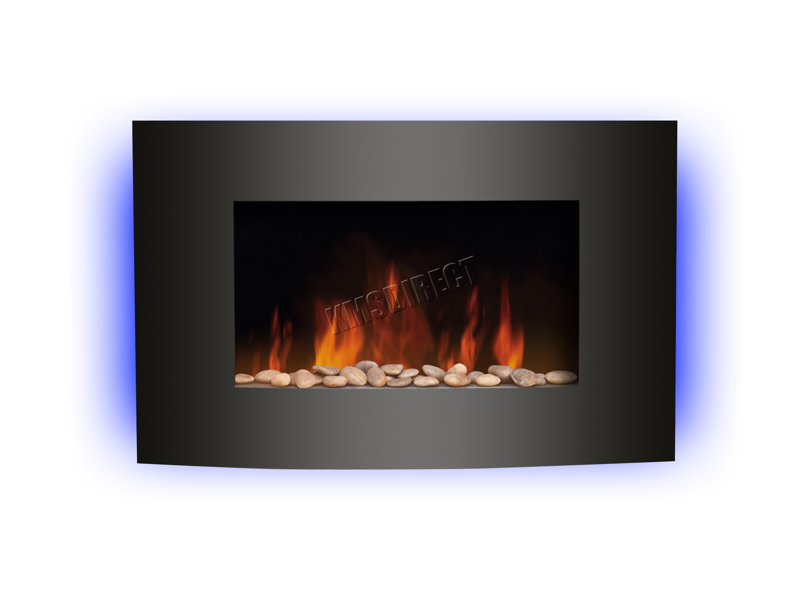 Wall Mounted Electric Fireplace Gl Heater Fire Remote