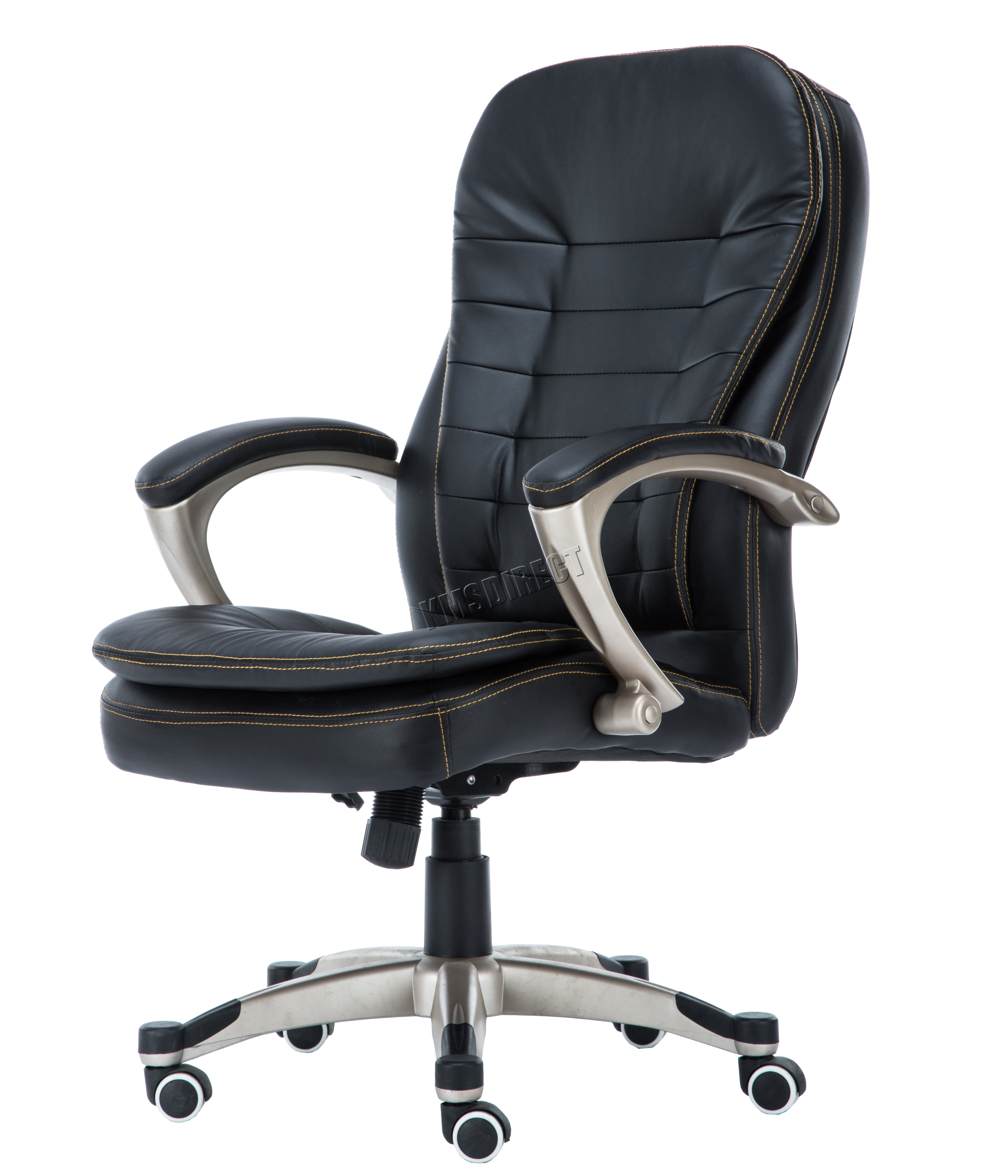 Sentinel Westwood Computer Executive Office Chair Pu Leather Swivel High Back Oc01 Black
