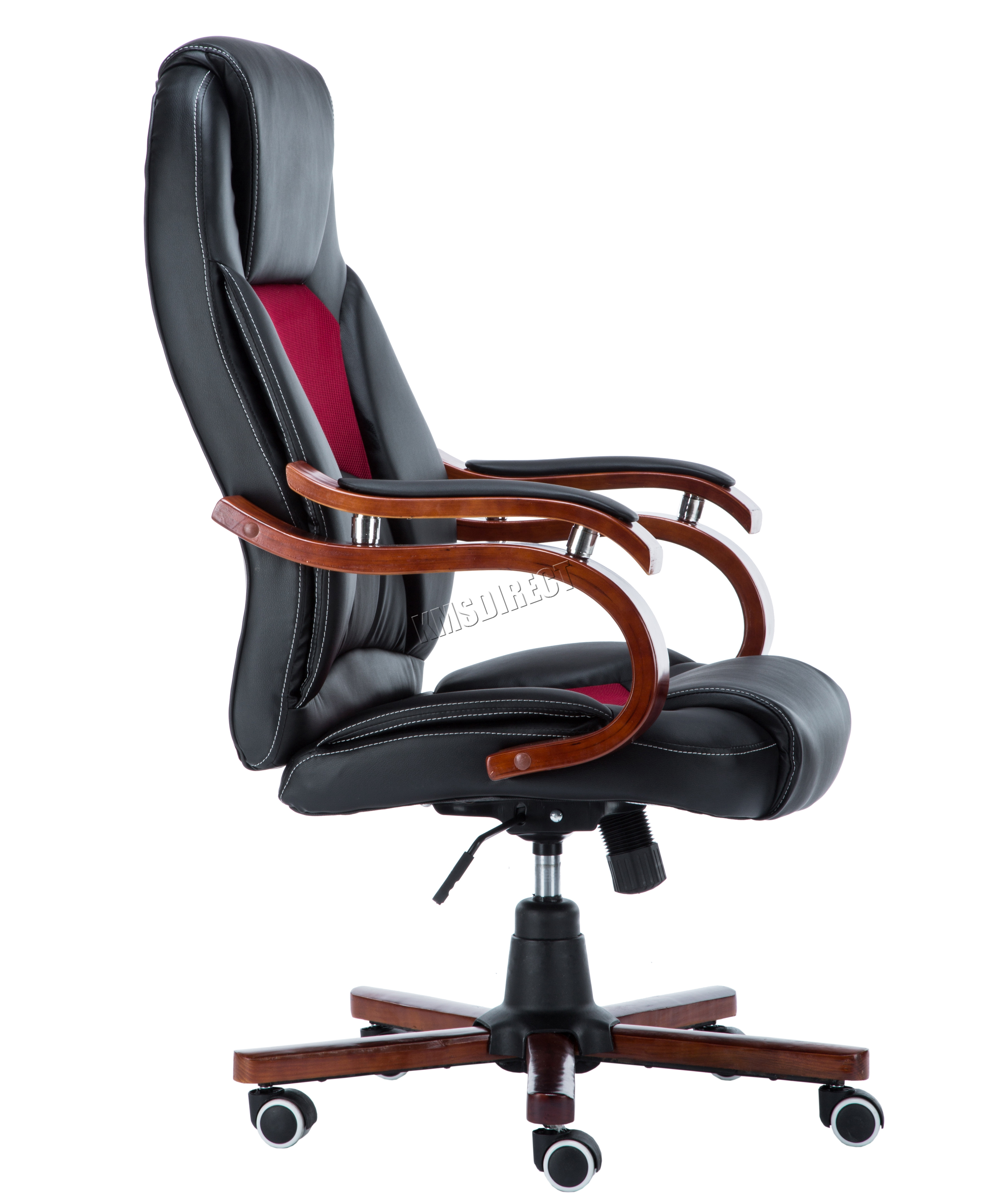FoxHunter puter Executive fice Desk Chair PU Leather Swivel