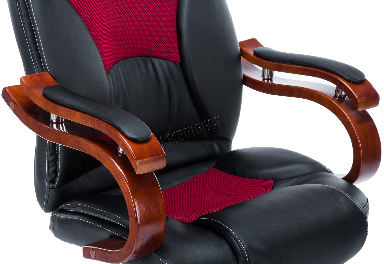 FoxHunter puter Executive fice Desk Chair PU Leather Swivel