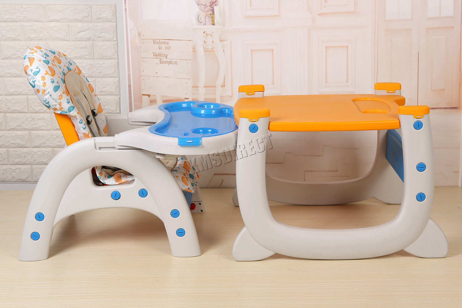 3 in 1 Detachable Table Chair Baby Toddler Infant Highchair Feeding Tray Seat
