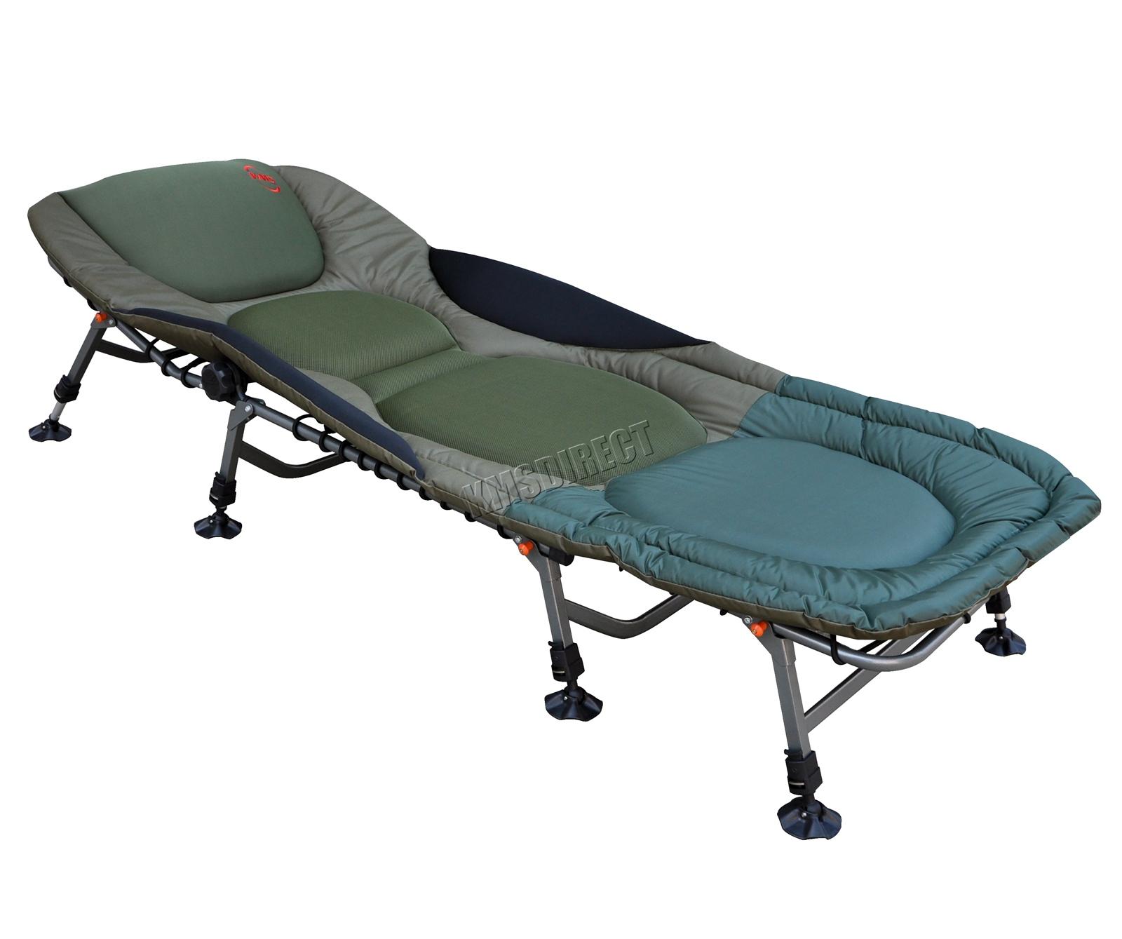 Sentinelle lit fauteuil lit camping heavy duty 8 pieds réglables fb 022 nouveau de pêche de