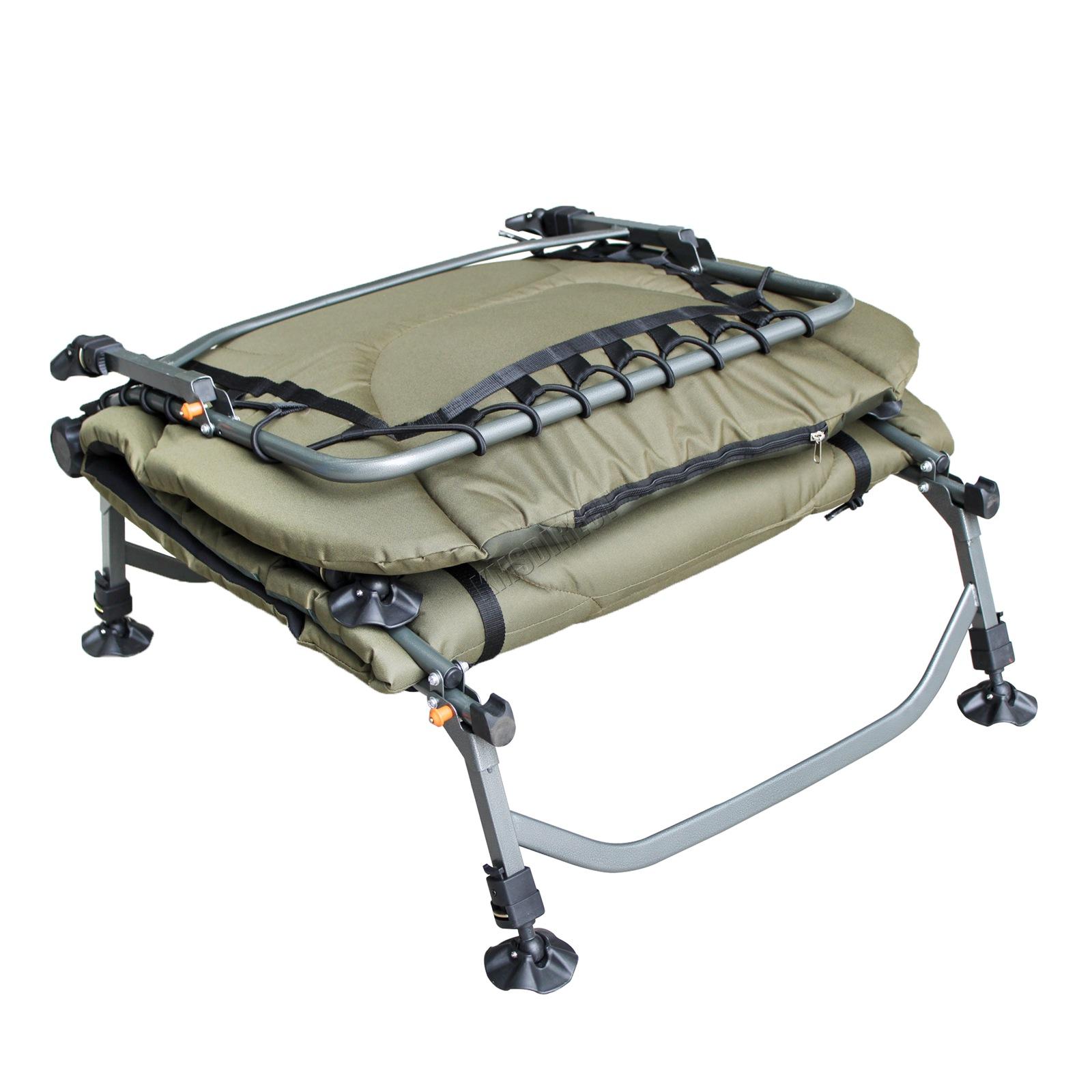 Carp Fishing Bed Chair Bedchair Camping Heavy Duty 8