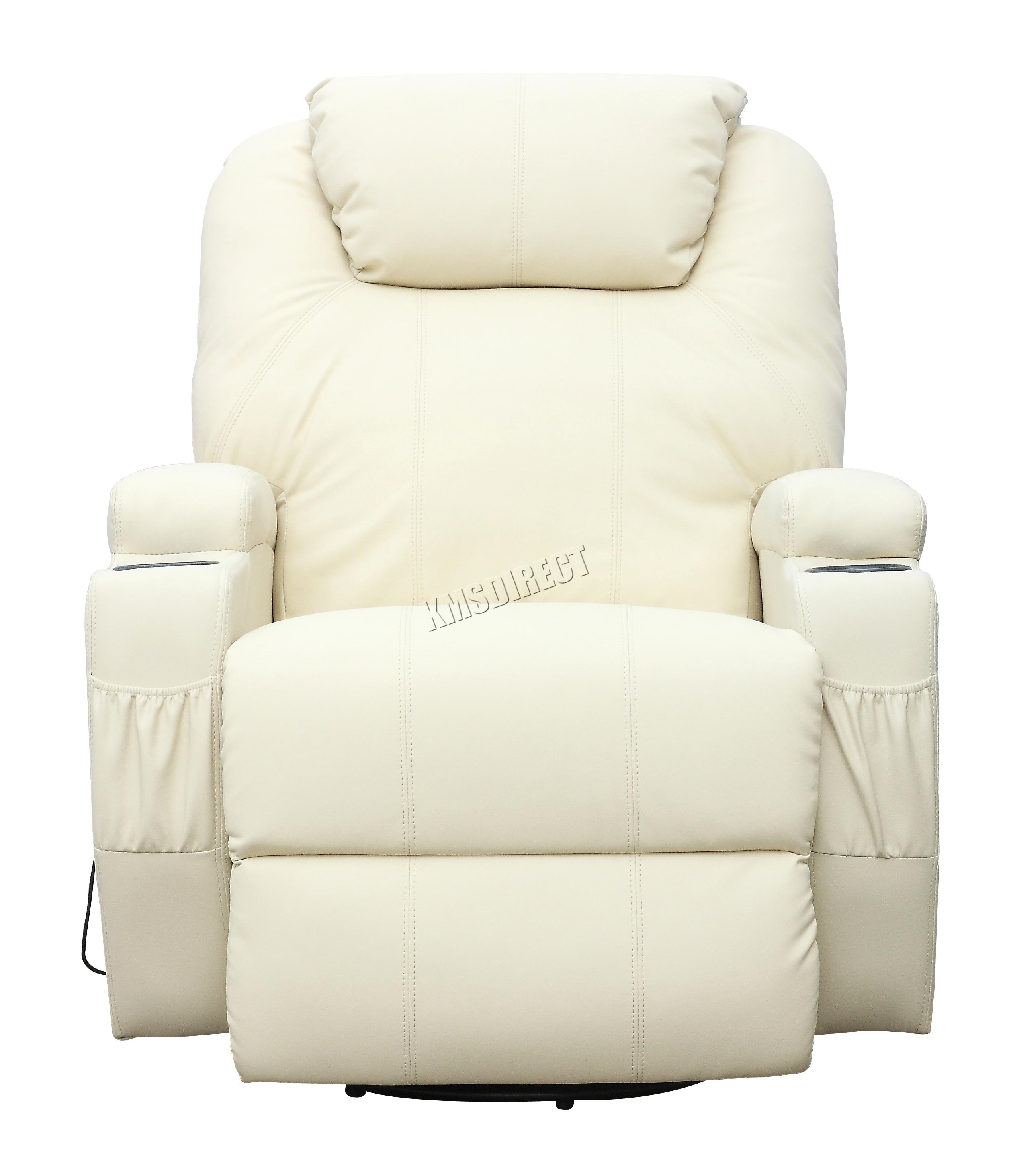 Sofá de butaca reclinable con sistema de masaje de cuero reconstituido Westwood-5897