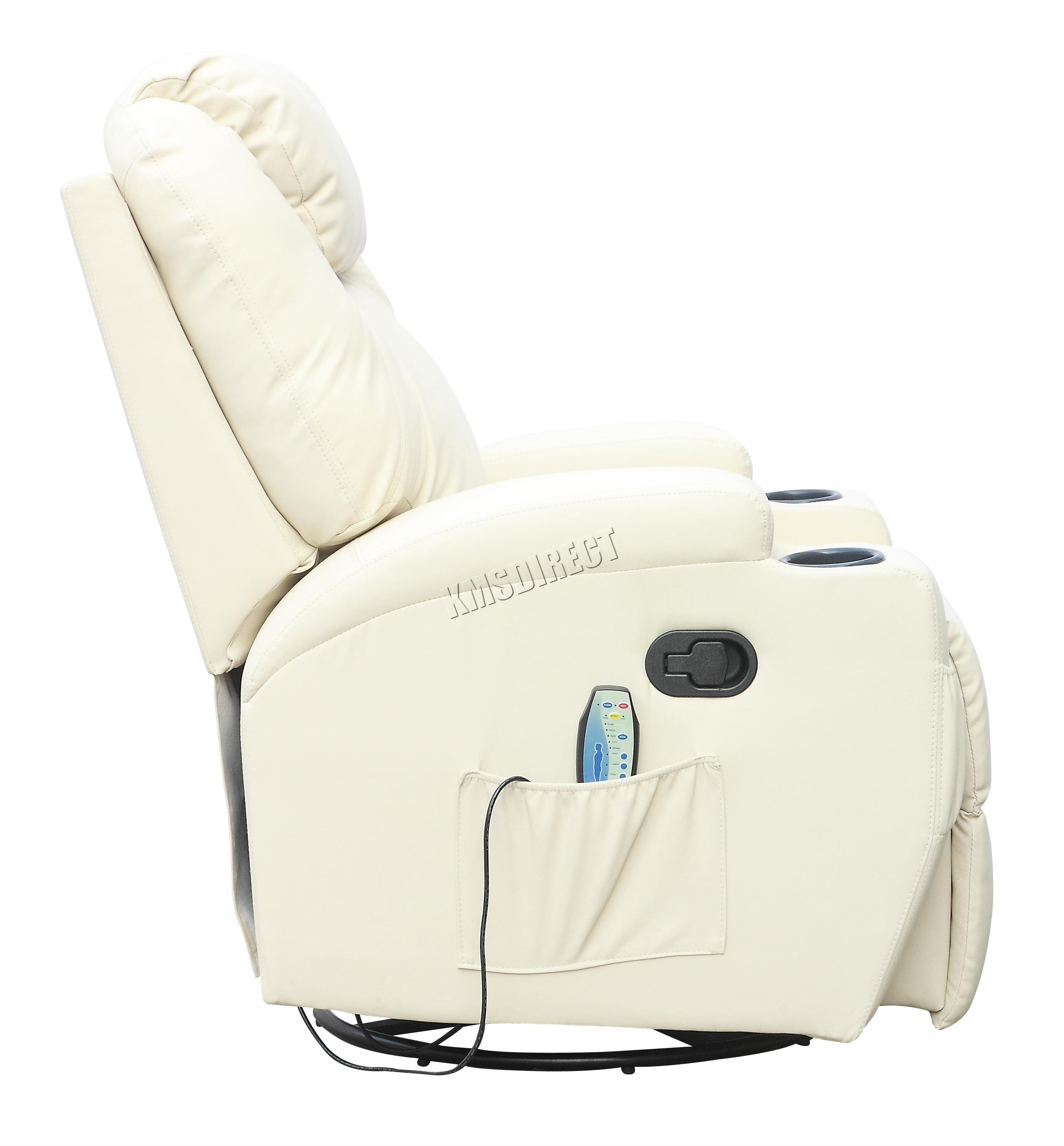 Sofá de butaca reclinable con sistema de masaje de cuero reconstituido Westwood-5741