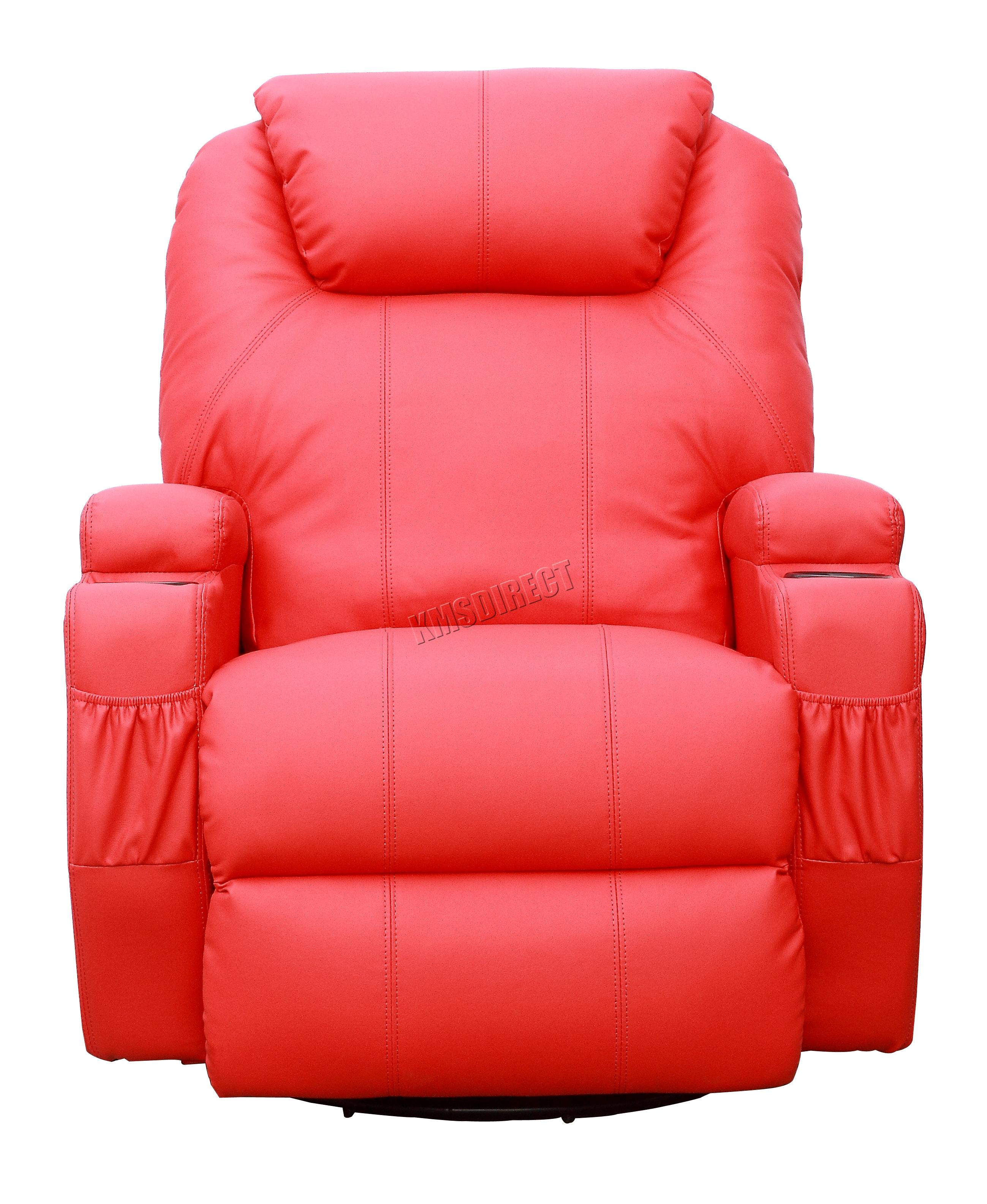 Sofá de butaca reclinable con sistema de masaje de cuero reconstituido Westwood-6216