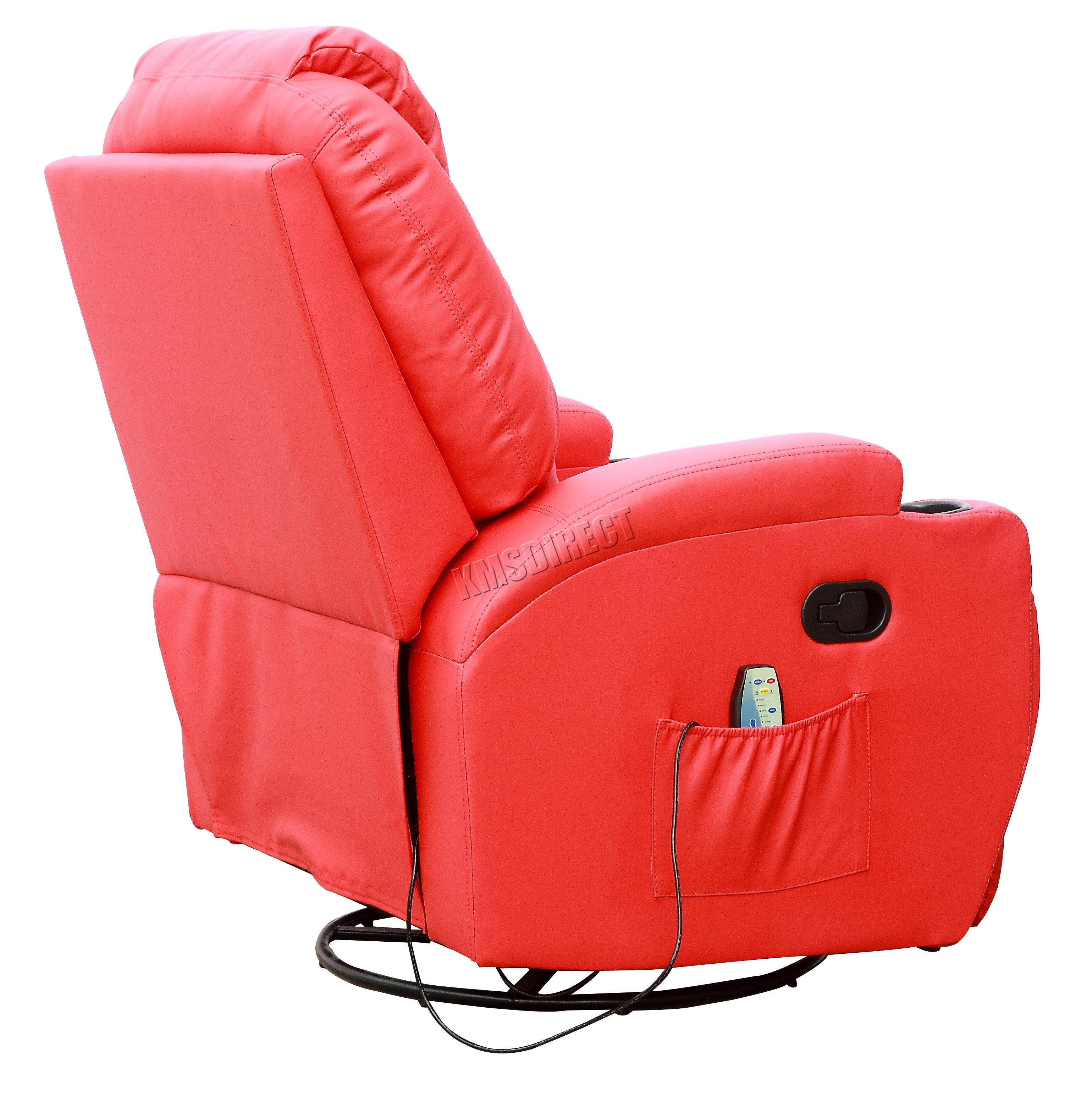 Sofá de butaca reclinable con sistema de masaje de cuero reconstituido Westwood-2617